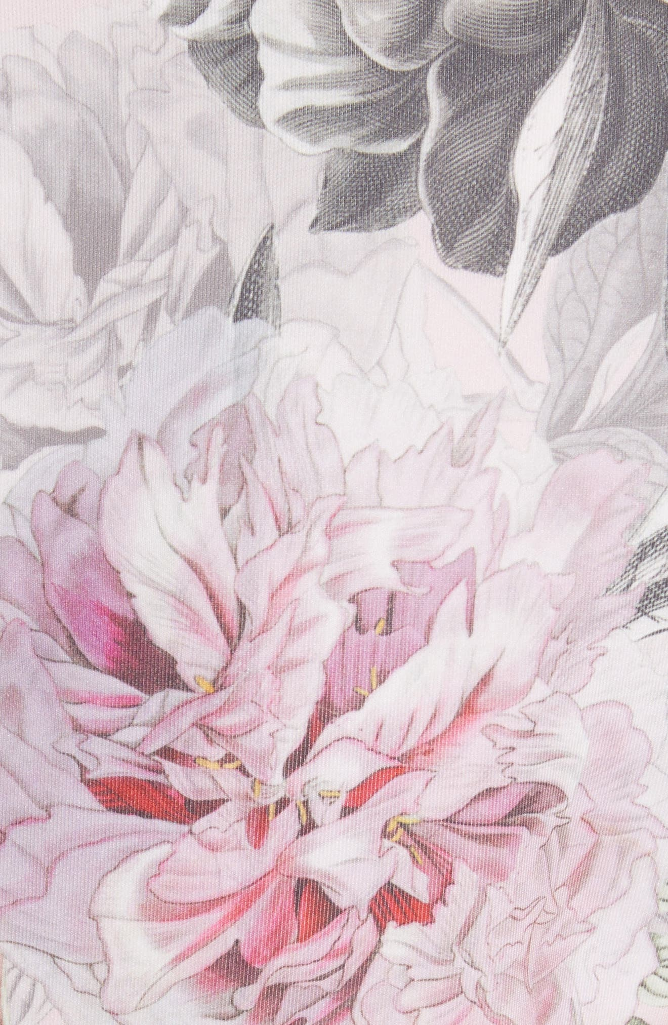 Palace Gardens Skater Dress,                             Alternate thumbnail 5, color,                             Dusky Pink