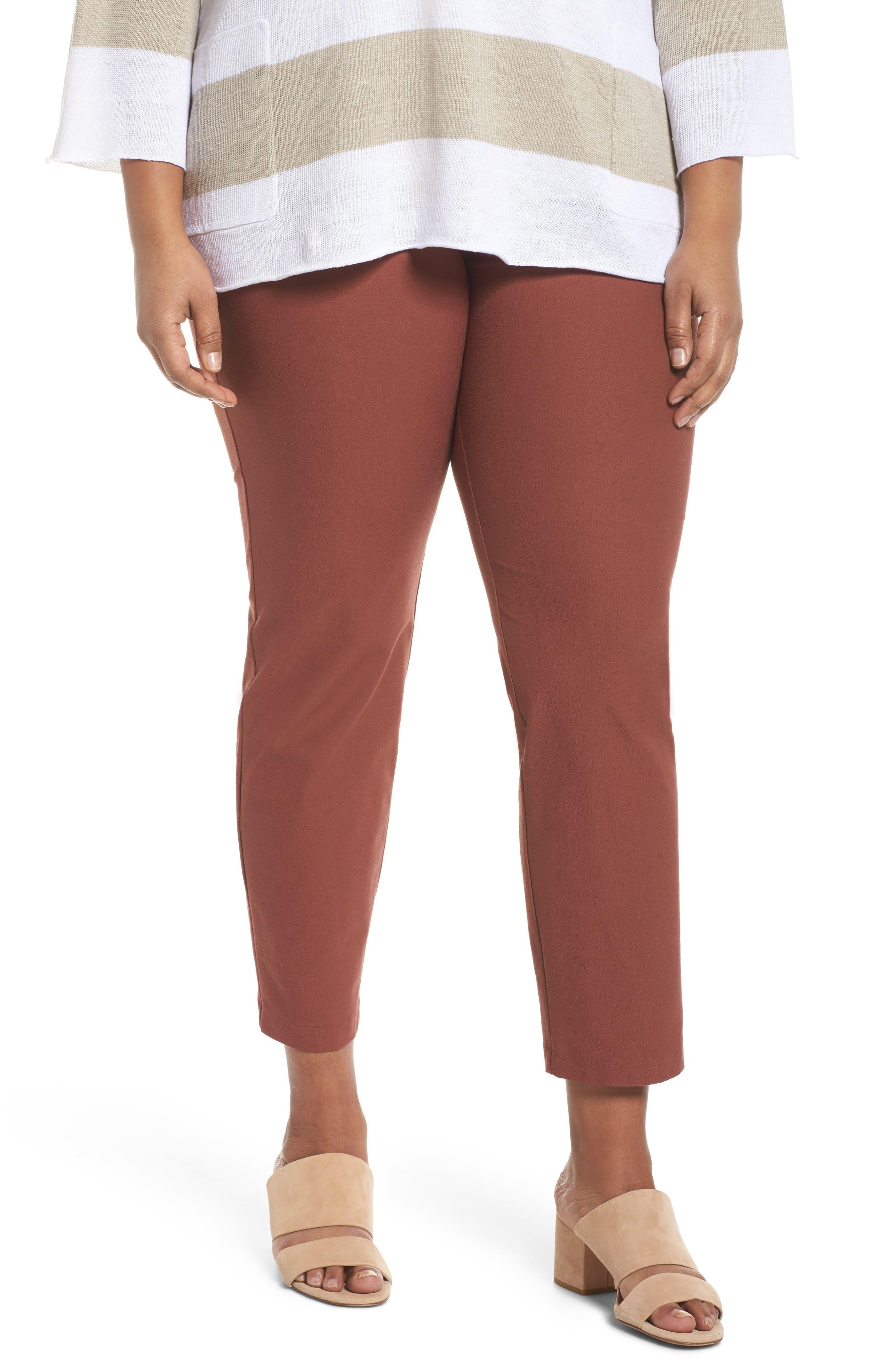 Slim Ankle Pants,                         Main,                         color, Russet