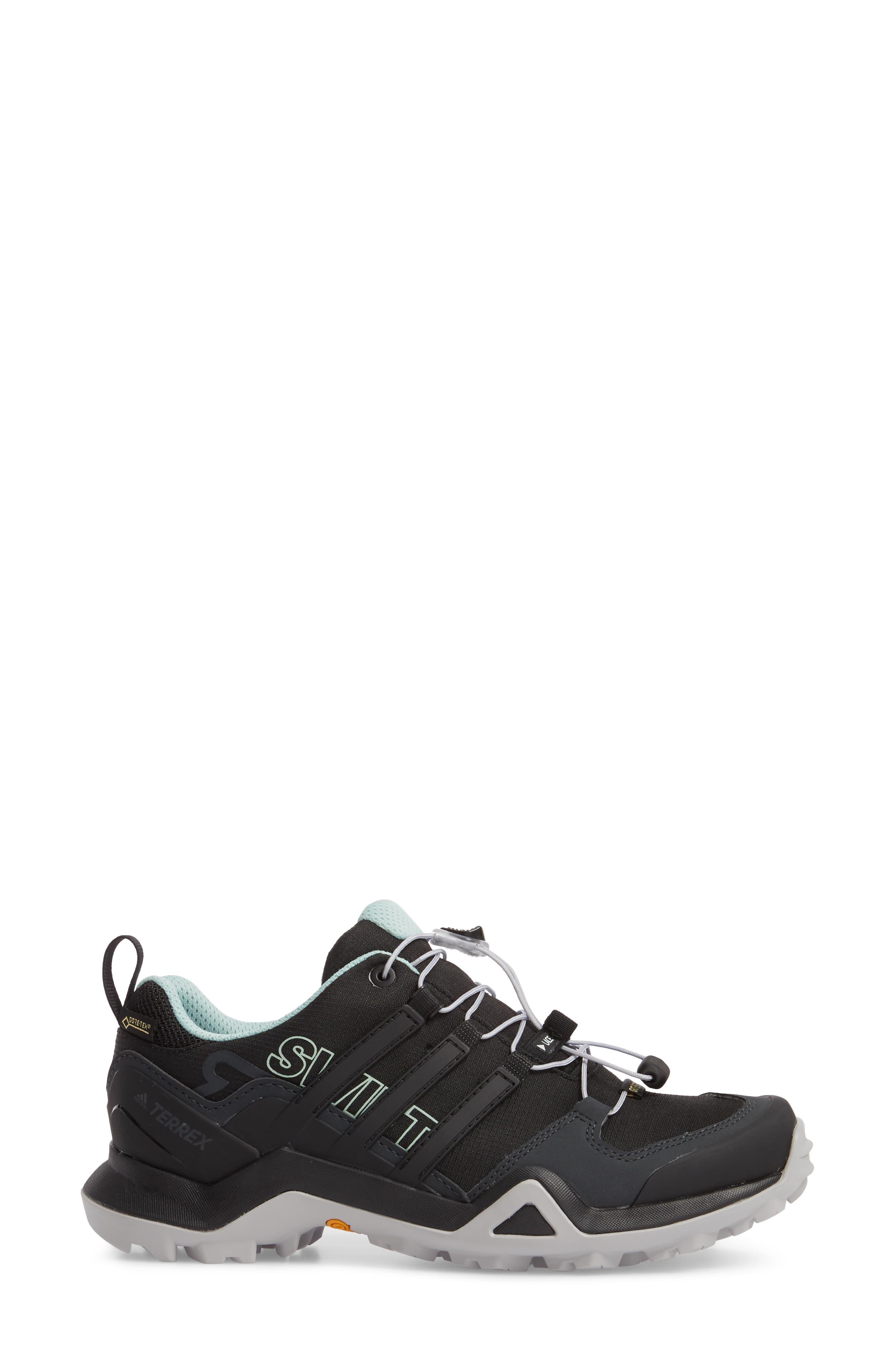 Terrex Swift R2 Gore-Tex<sup>®</sup> Hiking Shoe,                             Alternate thumbnail 3, color,                             Black/ Black/ Ash Green