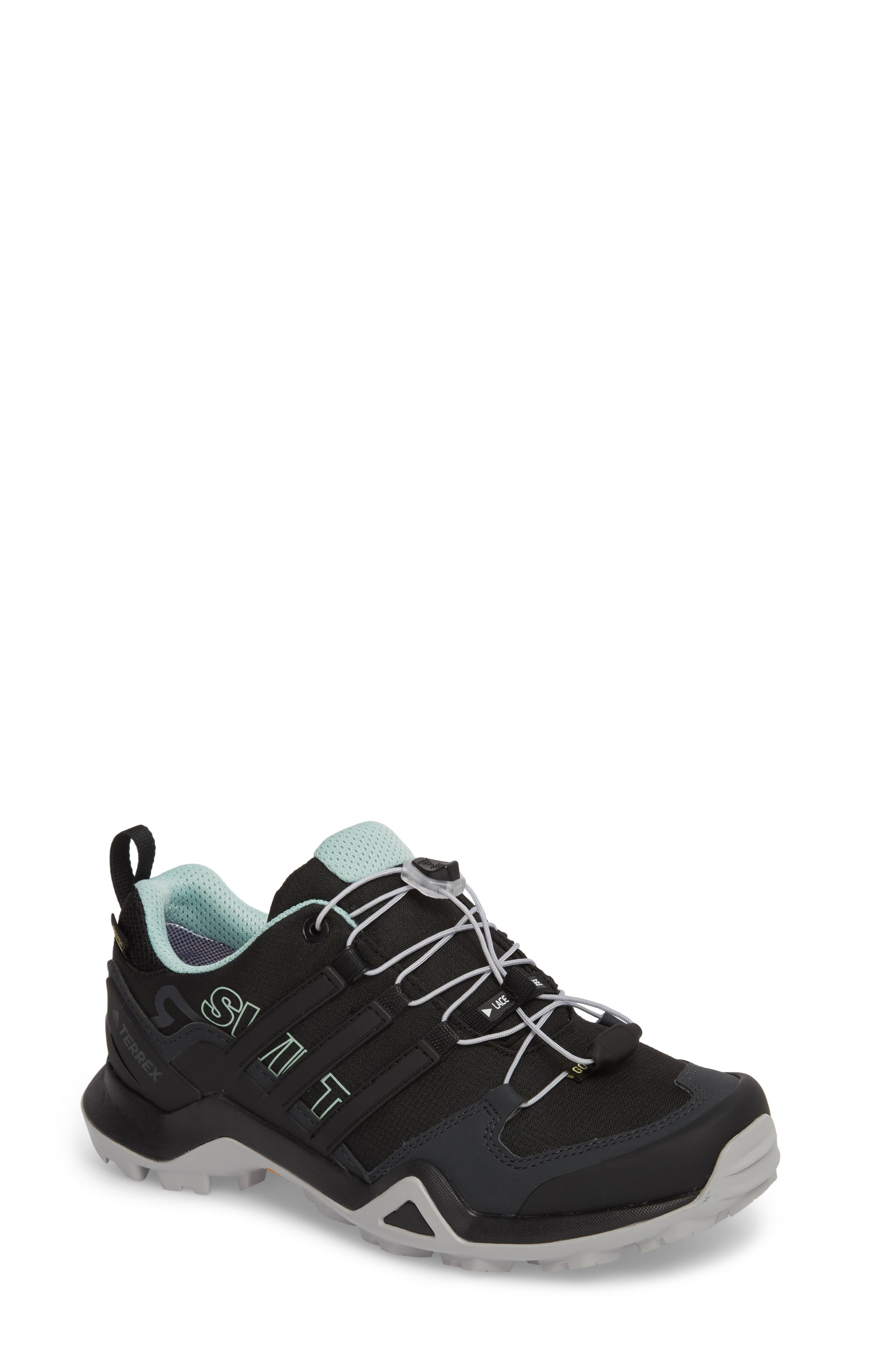 Terrex Swift R2 Gore-Tex<sup>®</sup> Hiking Shoe,                             Main thumbnail 1, color,                             Black/ Black/ Ash Green