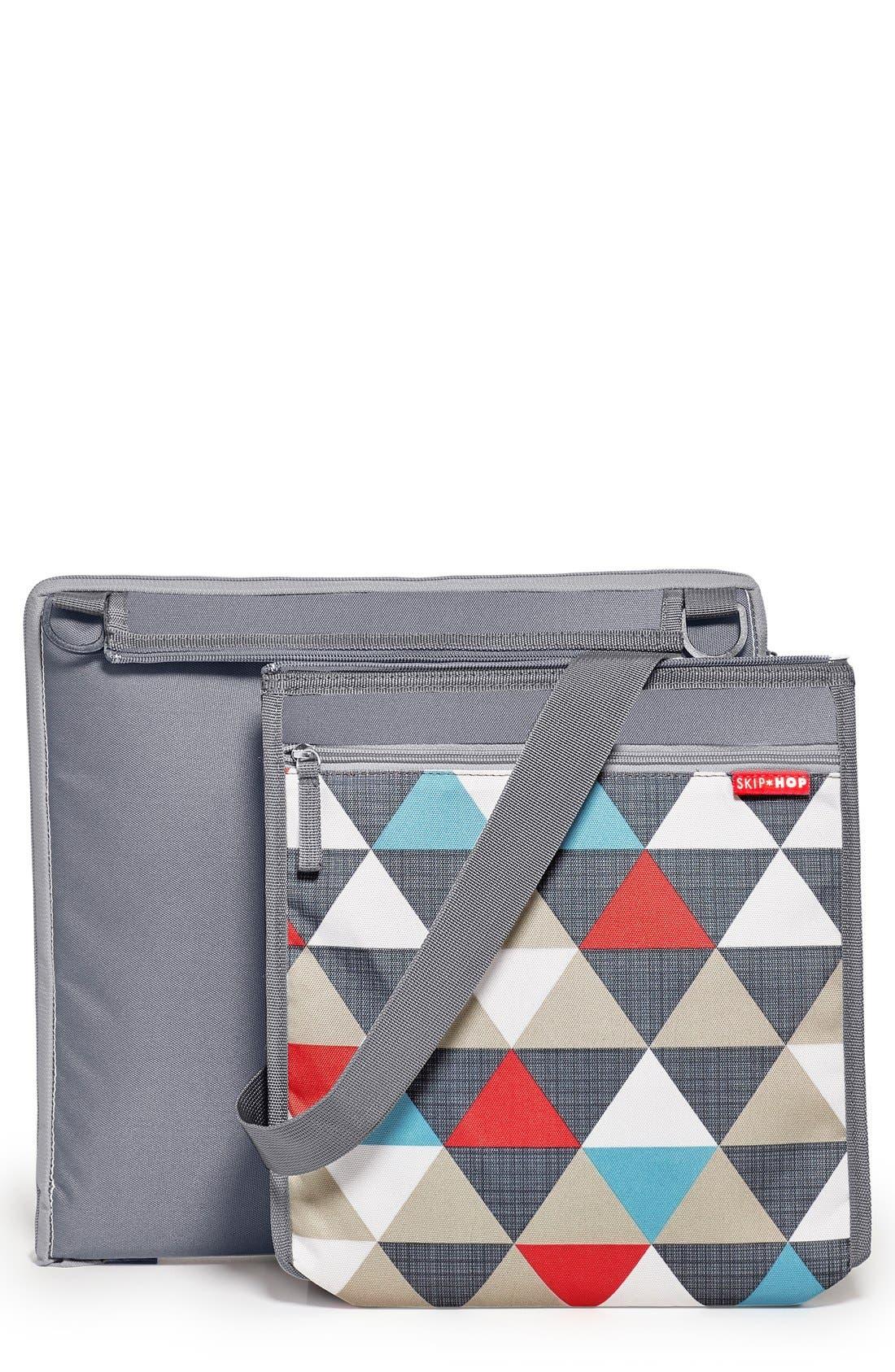 'Central Park' Outdoor Blanket & Cooler Bag,                         Main,                         color, Triangles
