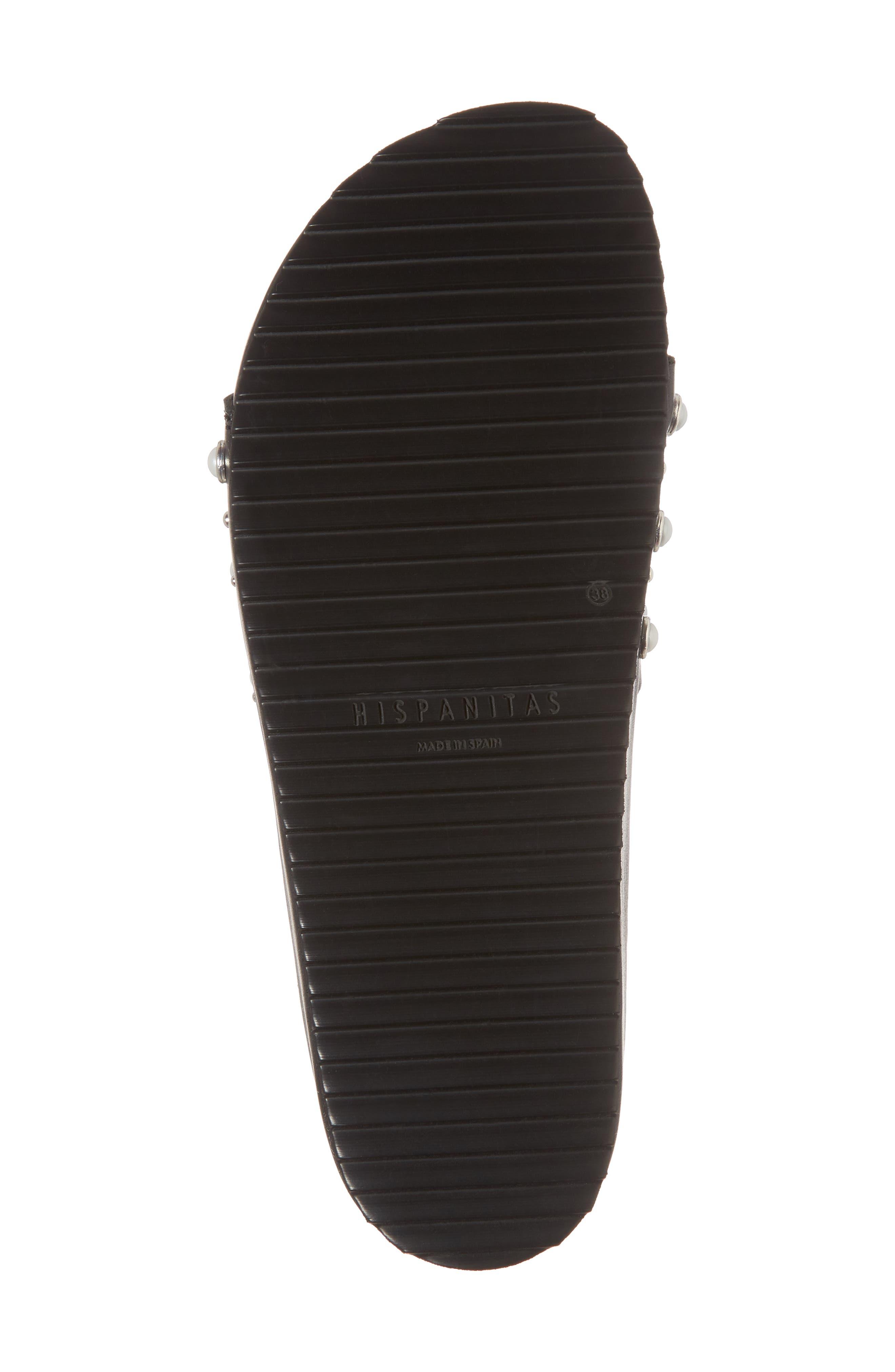 Santori Slide Sandal,                             Alternate thumbnail 6, color,                             Napa Black Leather