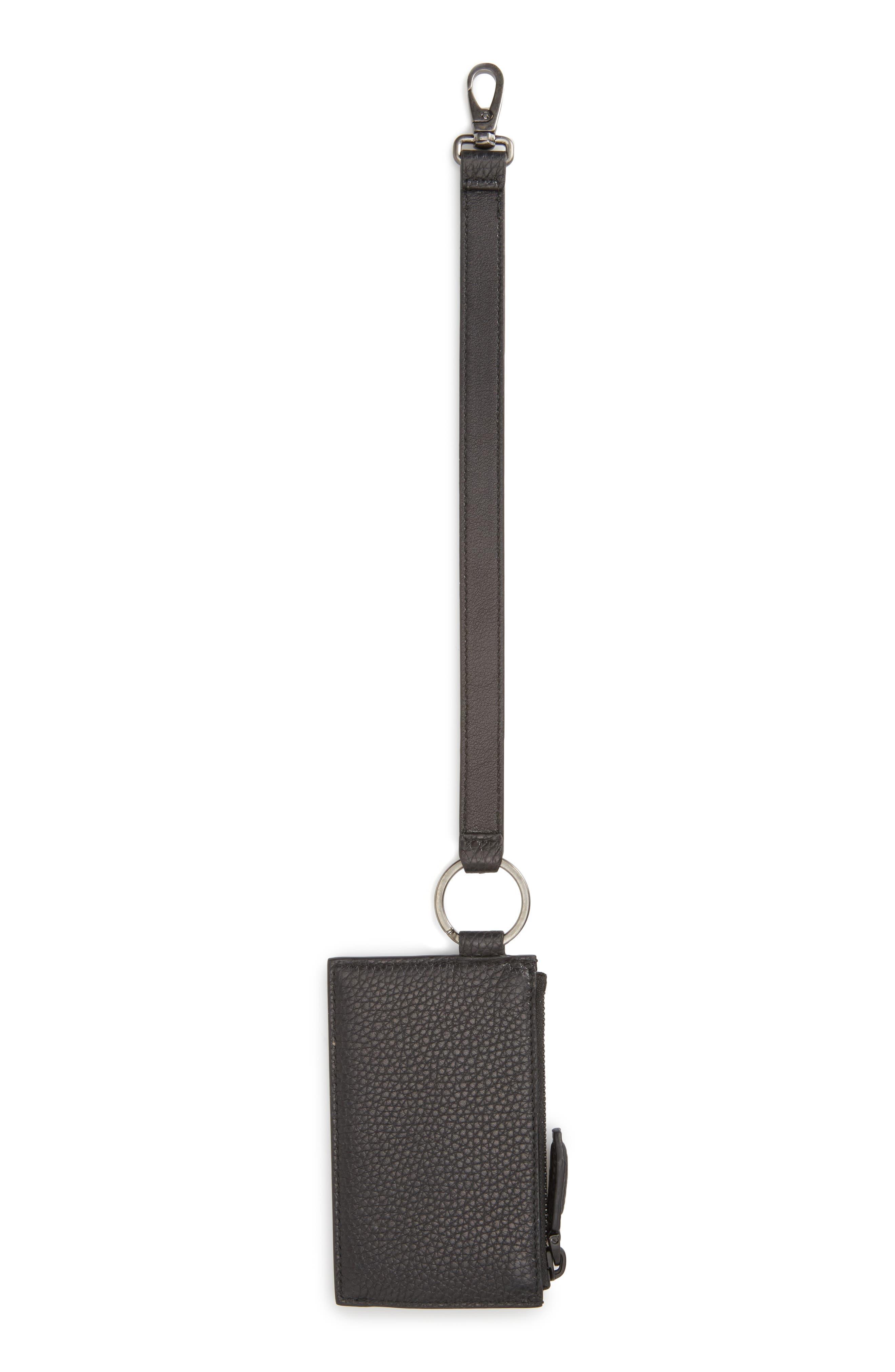 Alternate Image 2  - Salvatore Ferragamo Leather Zip Wallet with Strap