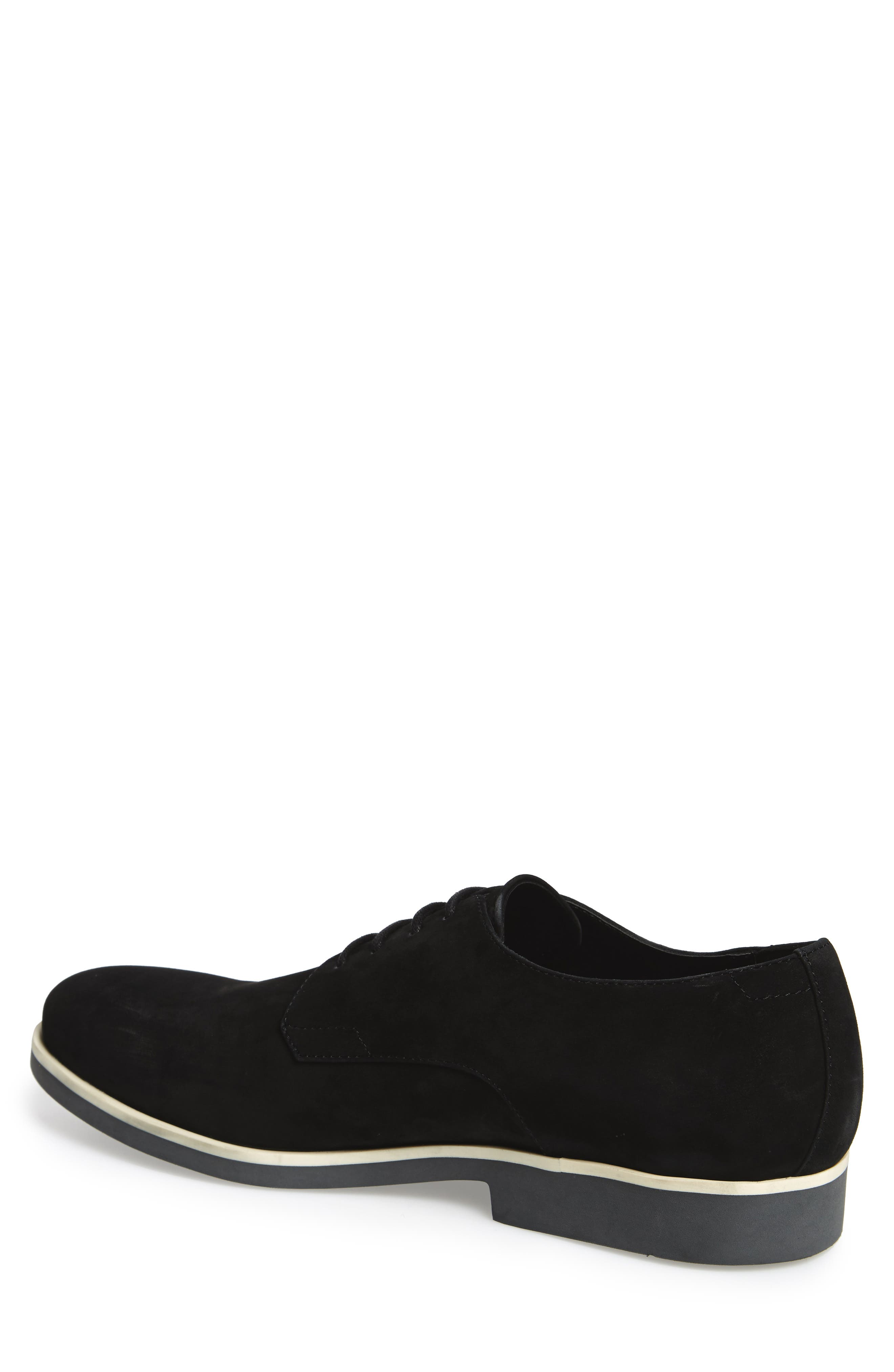 Faustino Plain-Toe Oxford,                             Alternate thumbnail 2, color,                             Black Leather