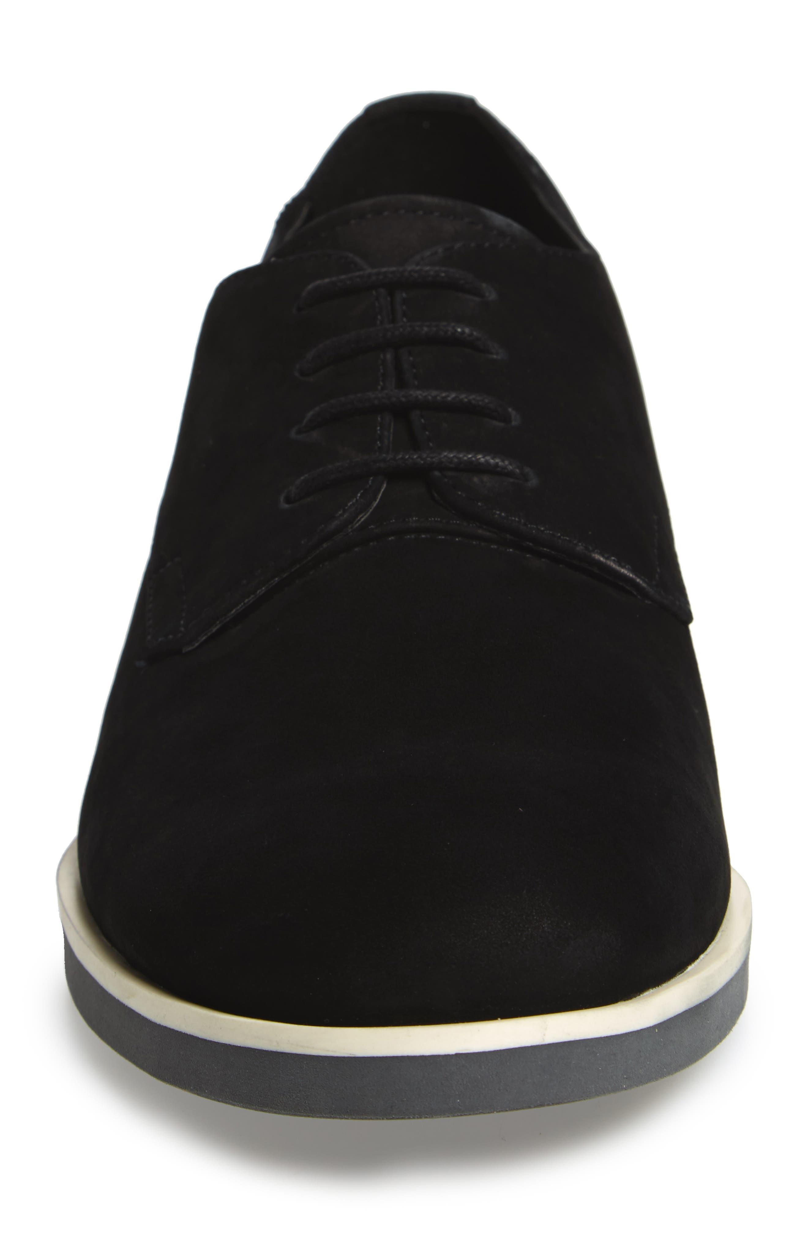 Faustino Plain-Toe Oxford,                             Alternate thumbnail 4, color,                             Black Leather