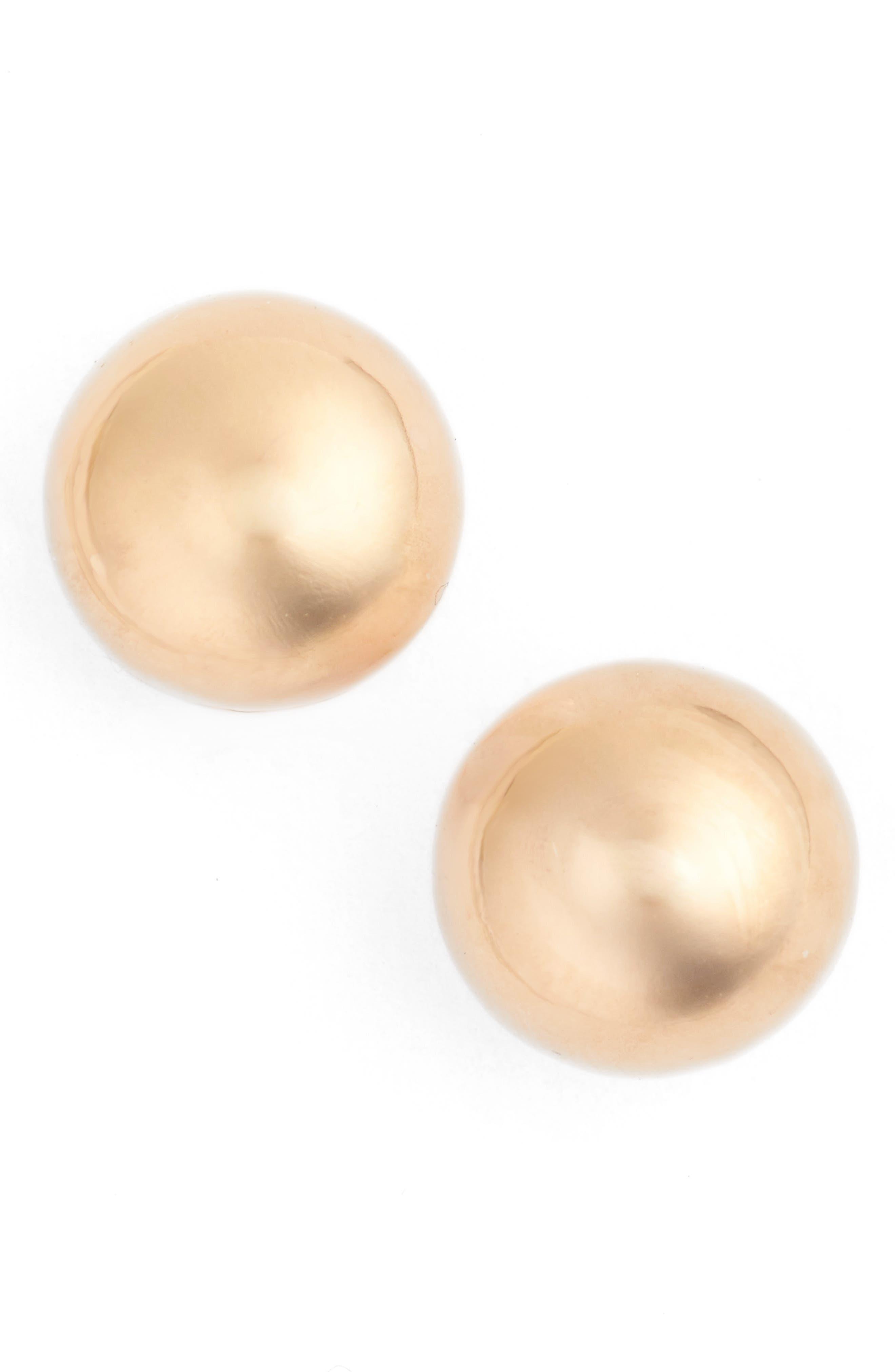 Ball Stud Earrings,                             Main thumbnail 1, color,                             Rose Gold
