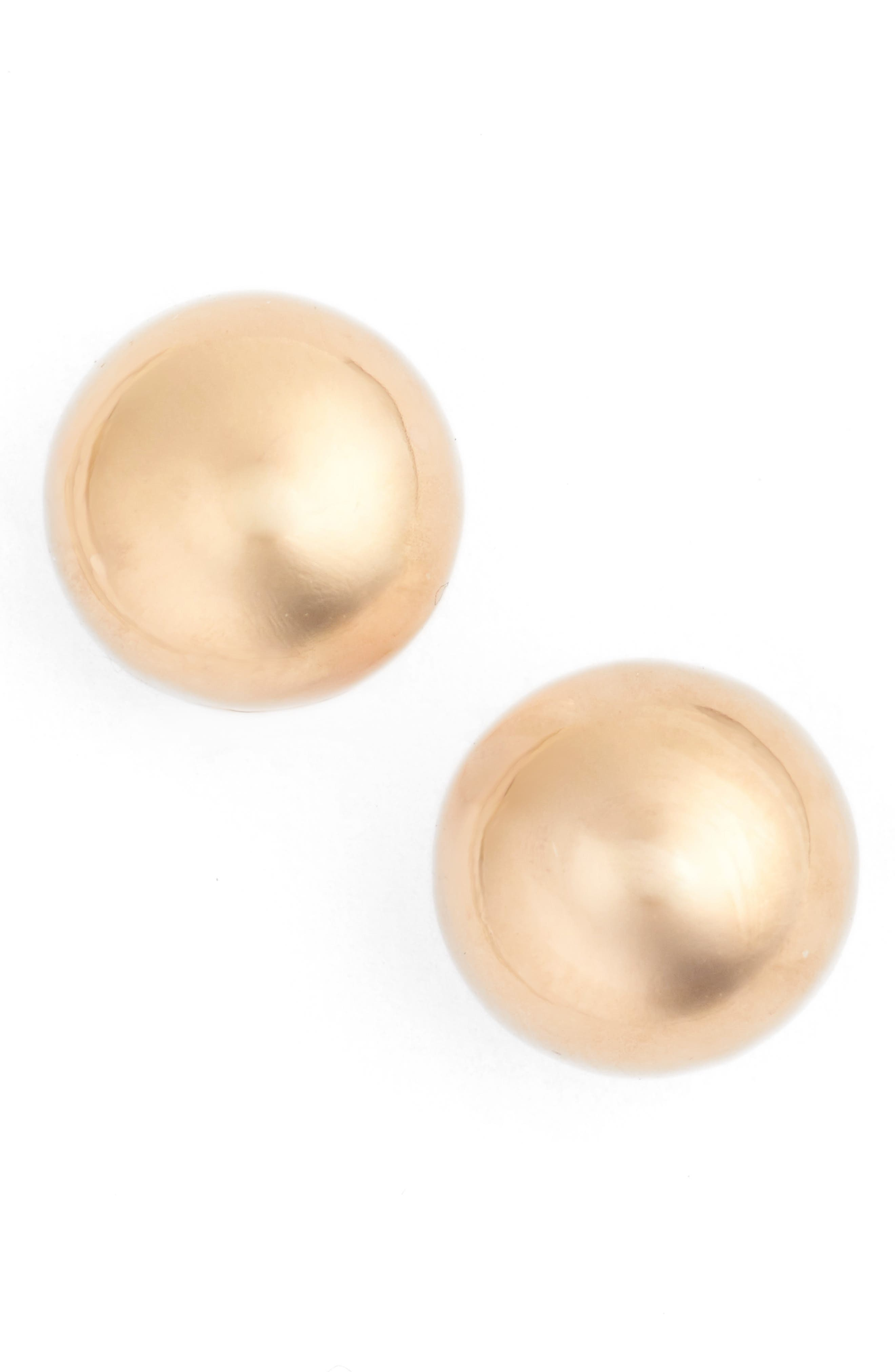 Ball Stud Earrings,                         Main,                         color, Rose Gold