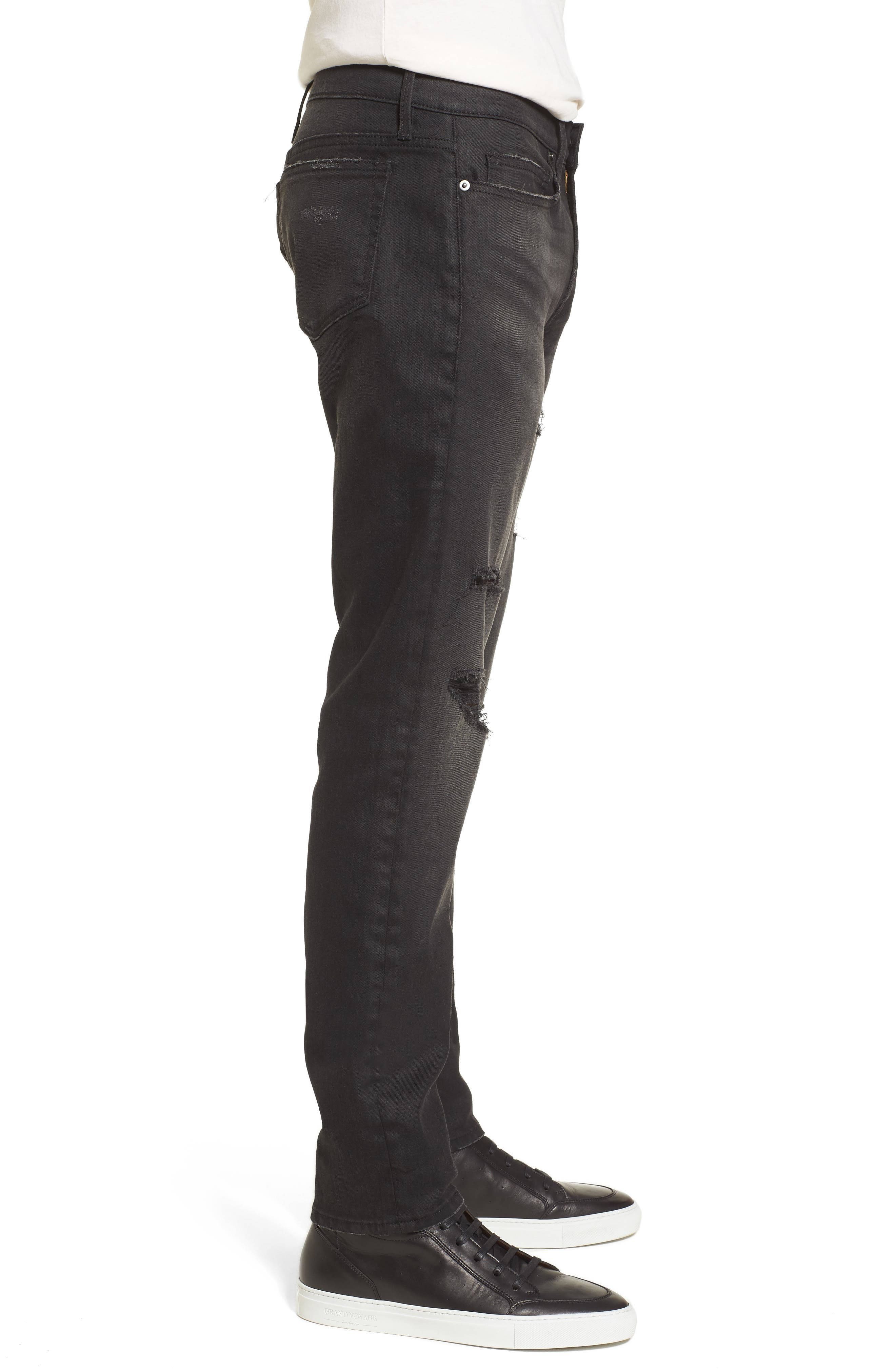 L'Homme Slim Fit Jeans,                             Alternate thumbnail 3, color,                             Flintwood