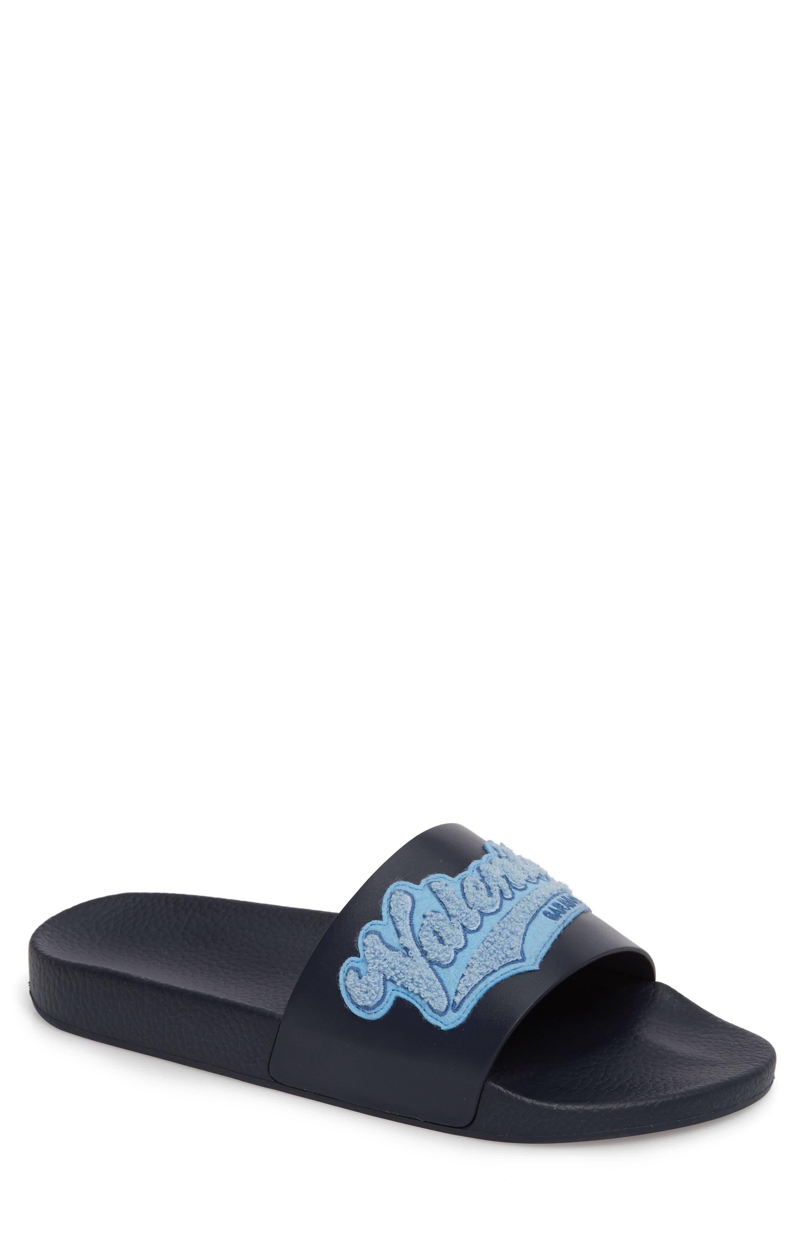 Slide Sandal,                         Main,                         color, Marine/ Stone