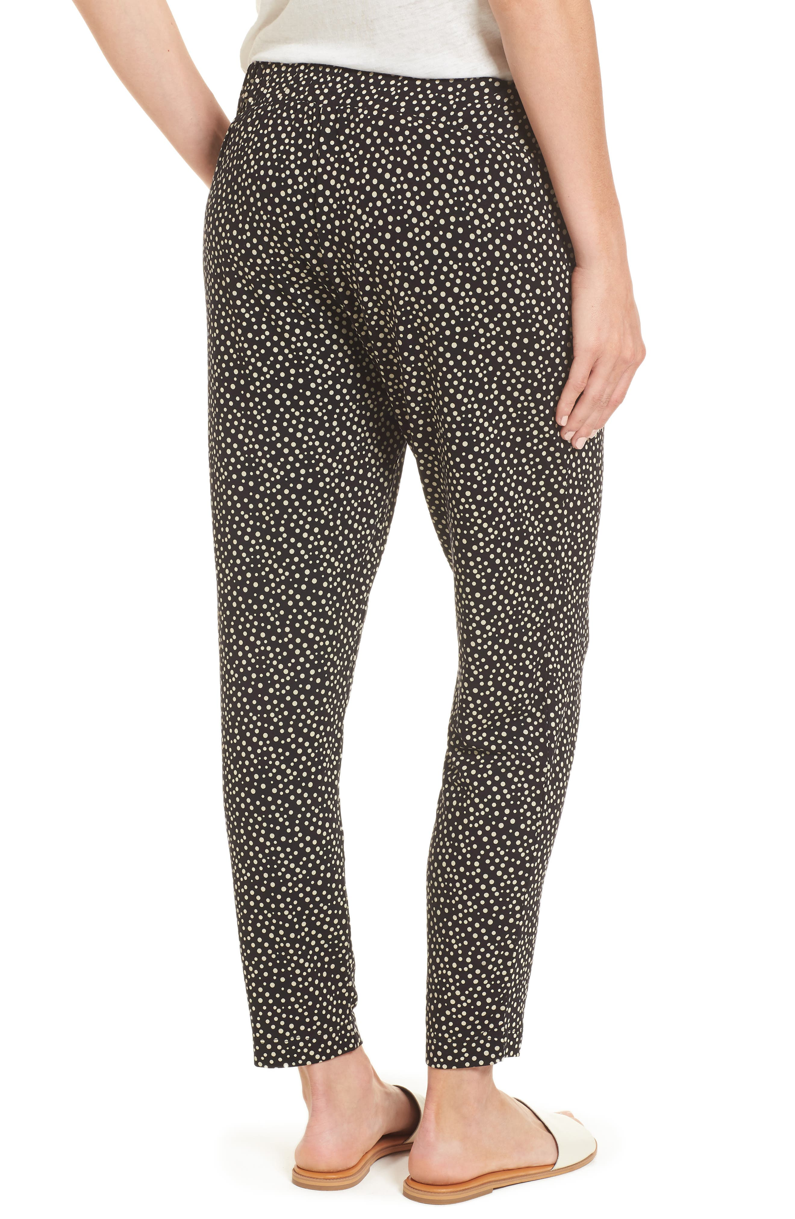 Danni Maternity Tapered Trousers,                             Alternate thumbnail 2, color,                             Polka Print