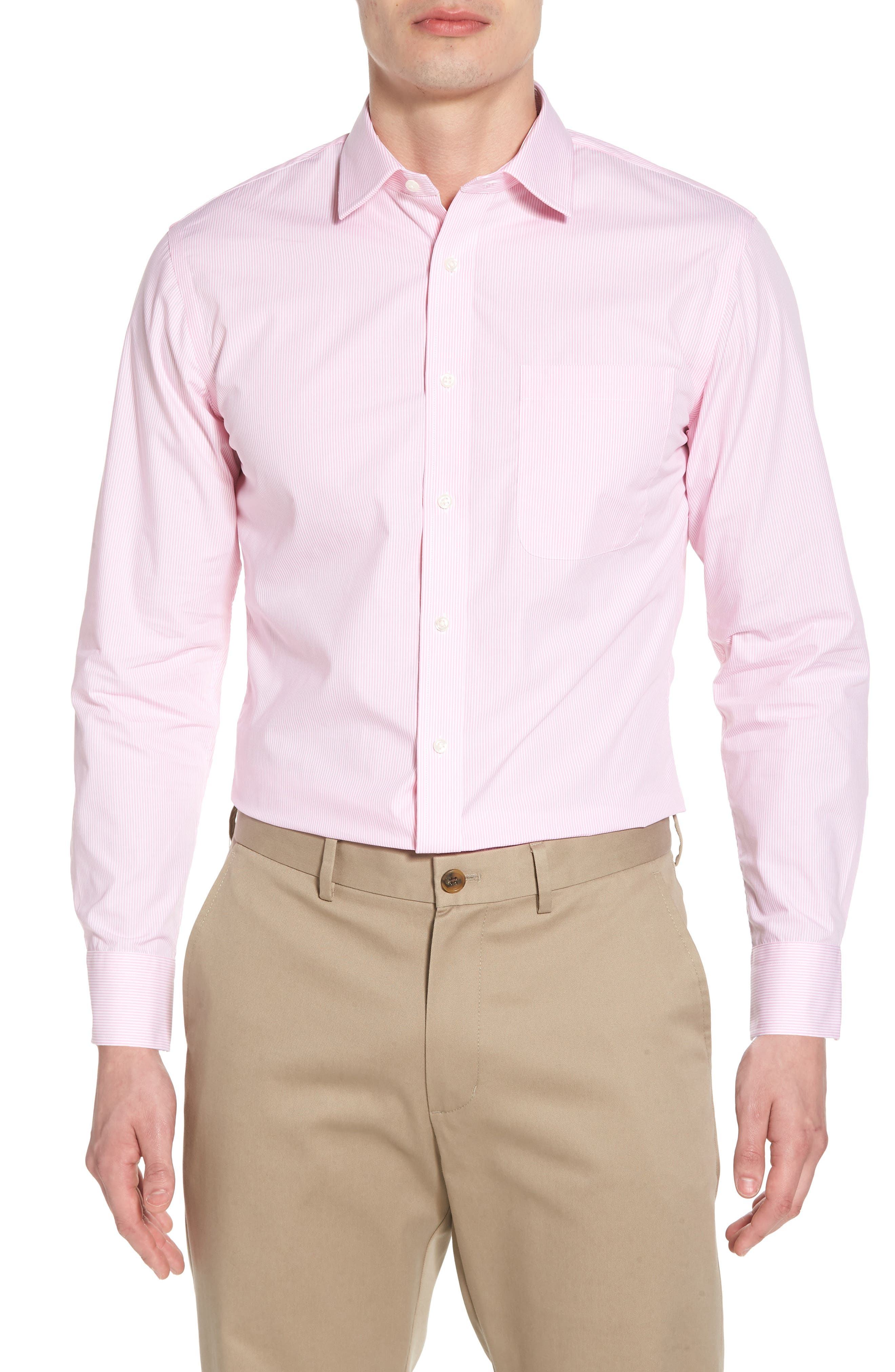 Alternate Image 1 Selected - Nordstrom Men's Shop Trim Fit Non-Iron Stripe Dress Shirt