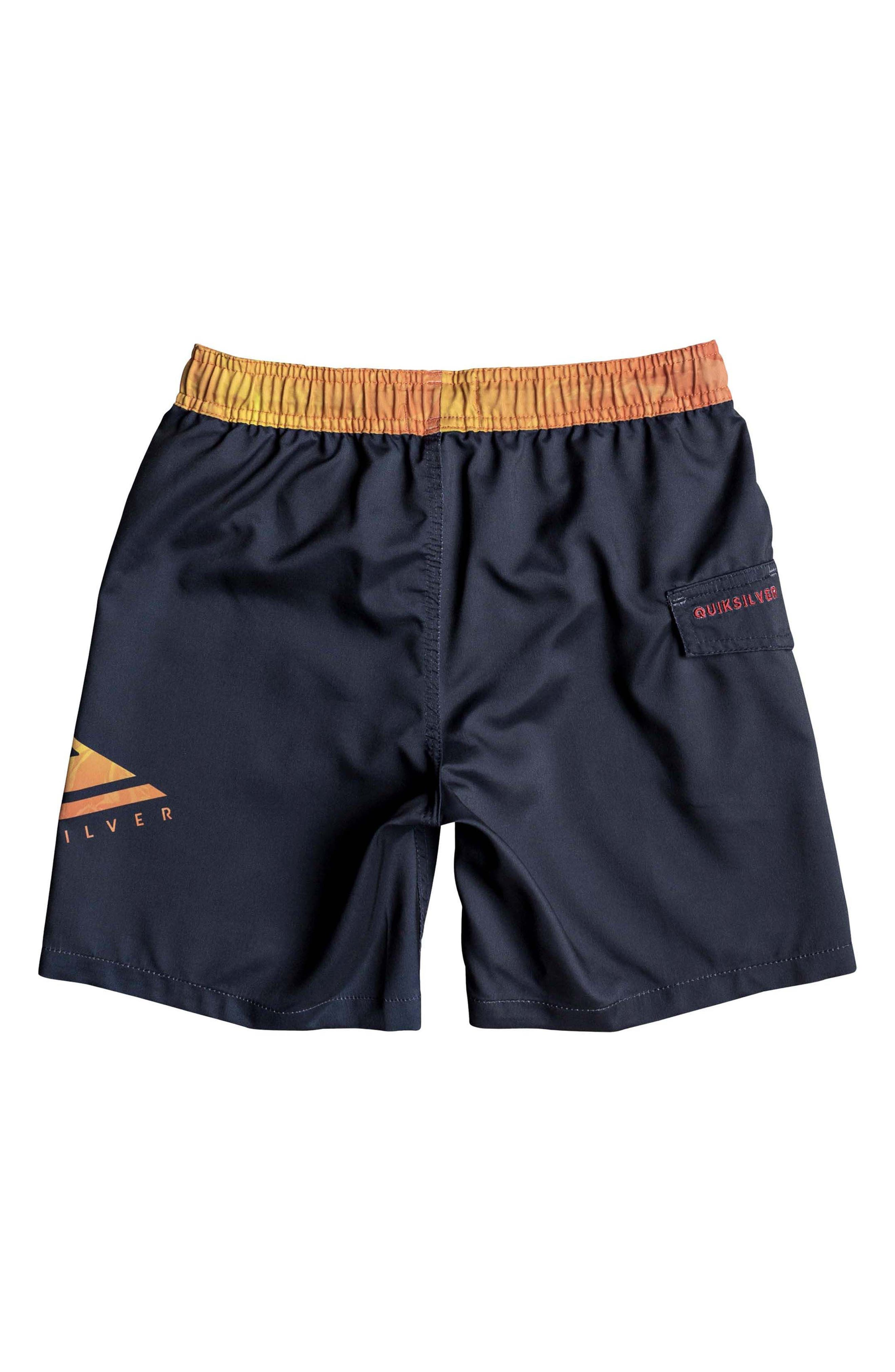 Lava Logo Volley Shorts,                             Alternate thumbnail 2, color,                             Navy Blazer