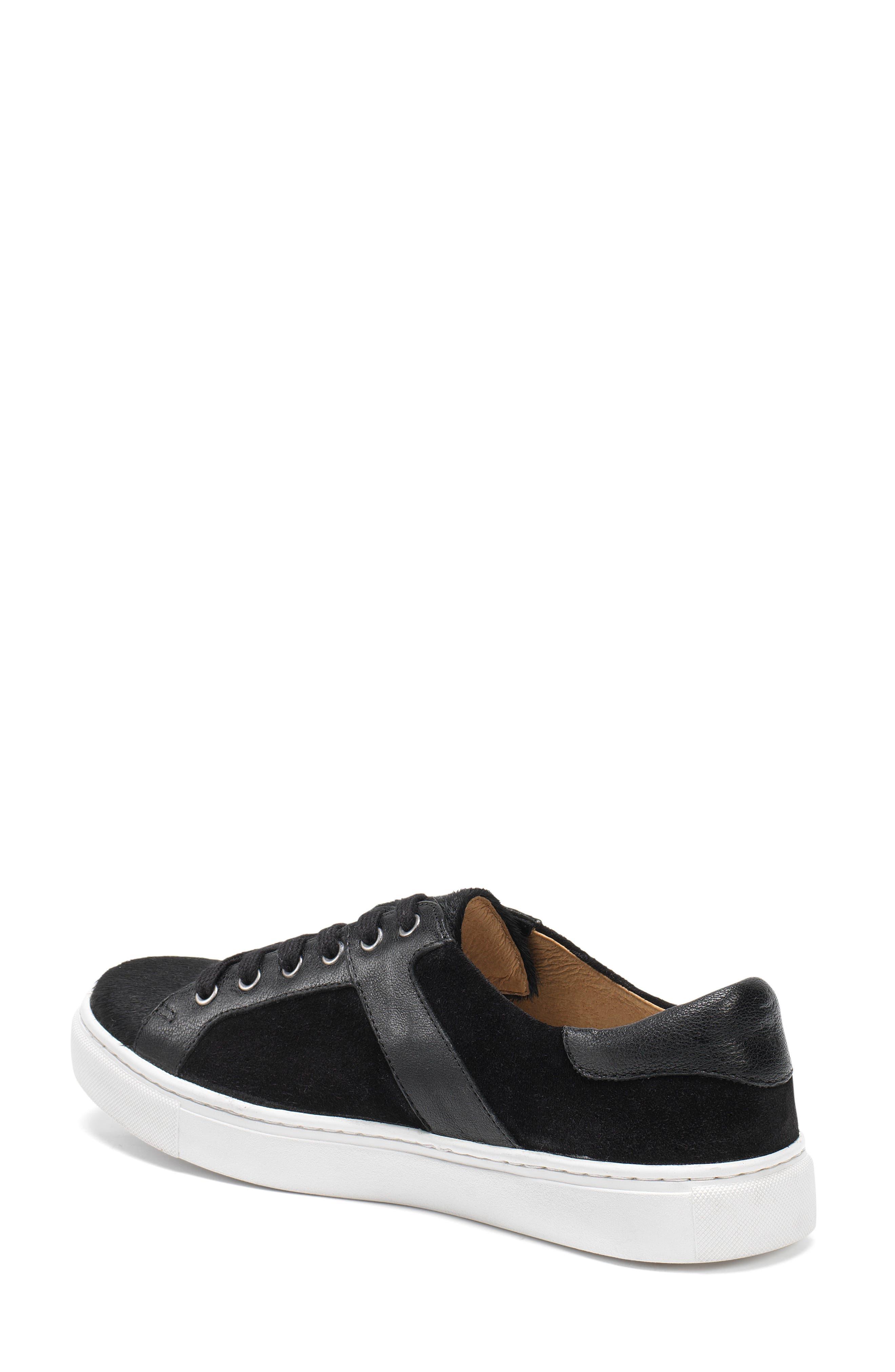 Lindsey Genuine Calf Hair Sneaker,                             Alternate thumbnail 2, color,                             Black Calfhair