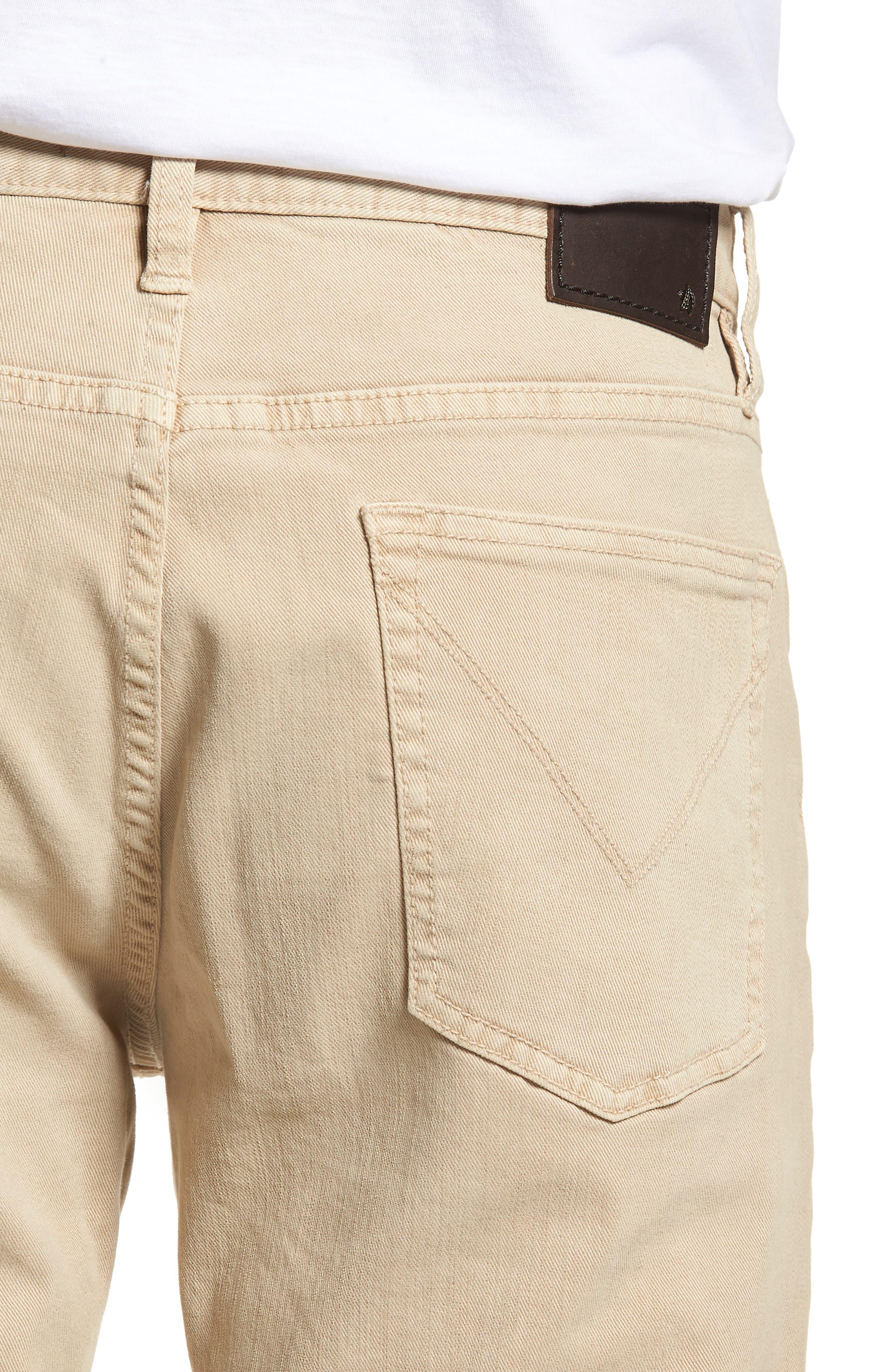 John Varvatos Star USA Wight Slim Fit Straight Leg Stretch Jeans,                             Alternate thumbnail 4, color,                             Twine