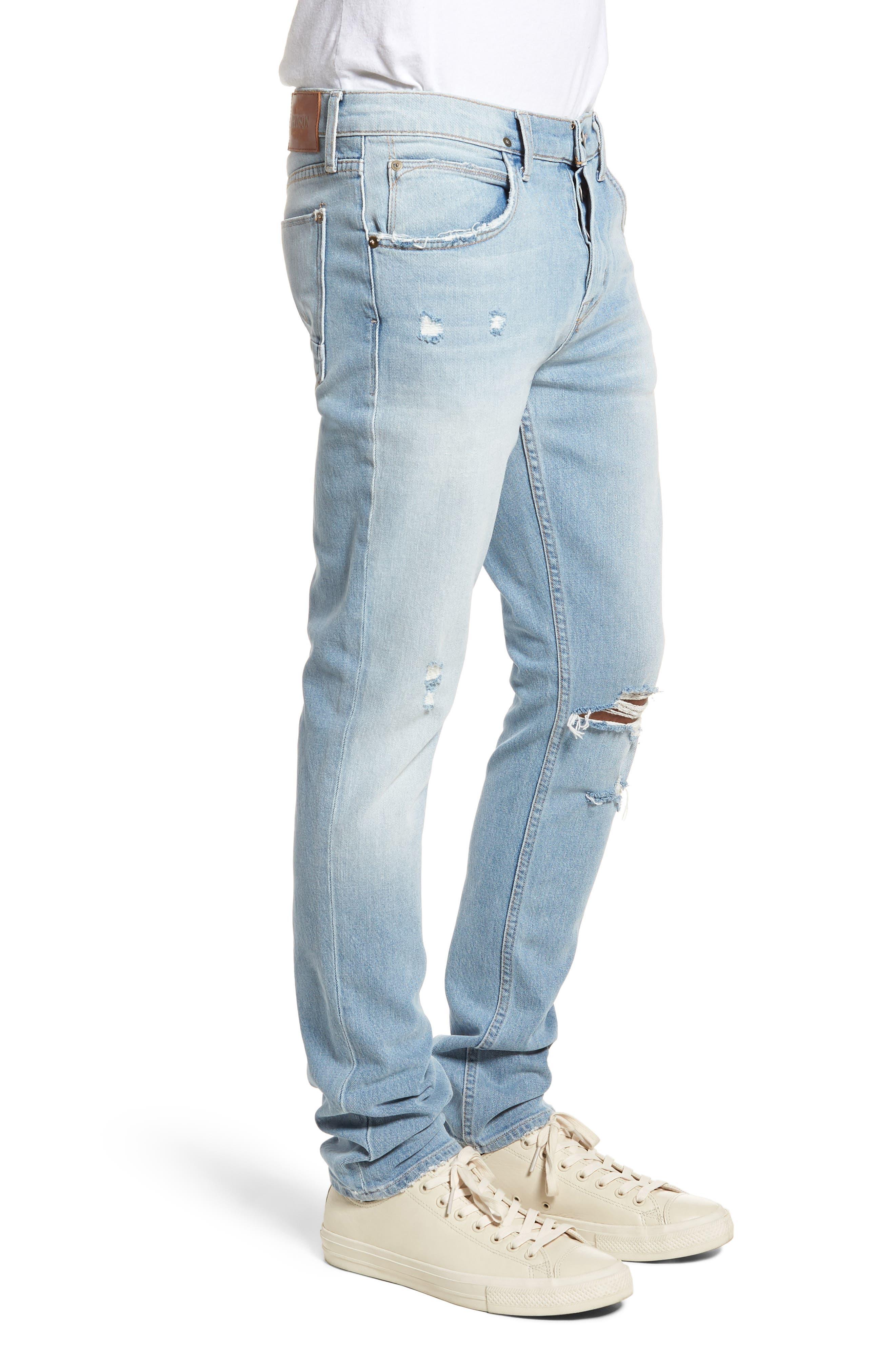 Axl Skinny Fit Jeans,                             Alternate thumbnail 3, color,                             Blaze