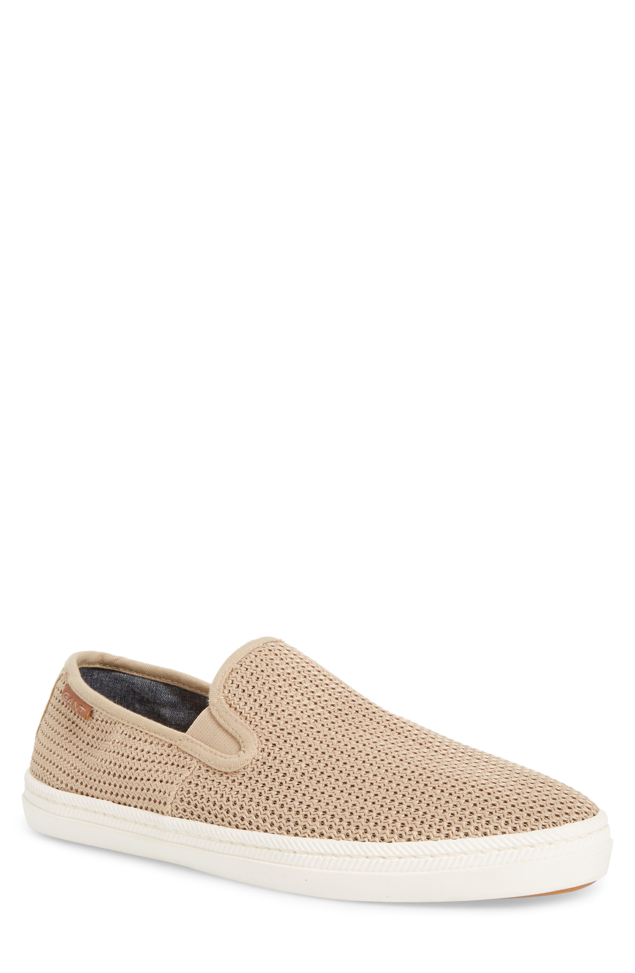Viktor Woven Slip-On Sneaker,                             Main thumbnail 1, color,                             Dry Sand