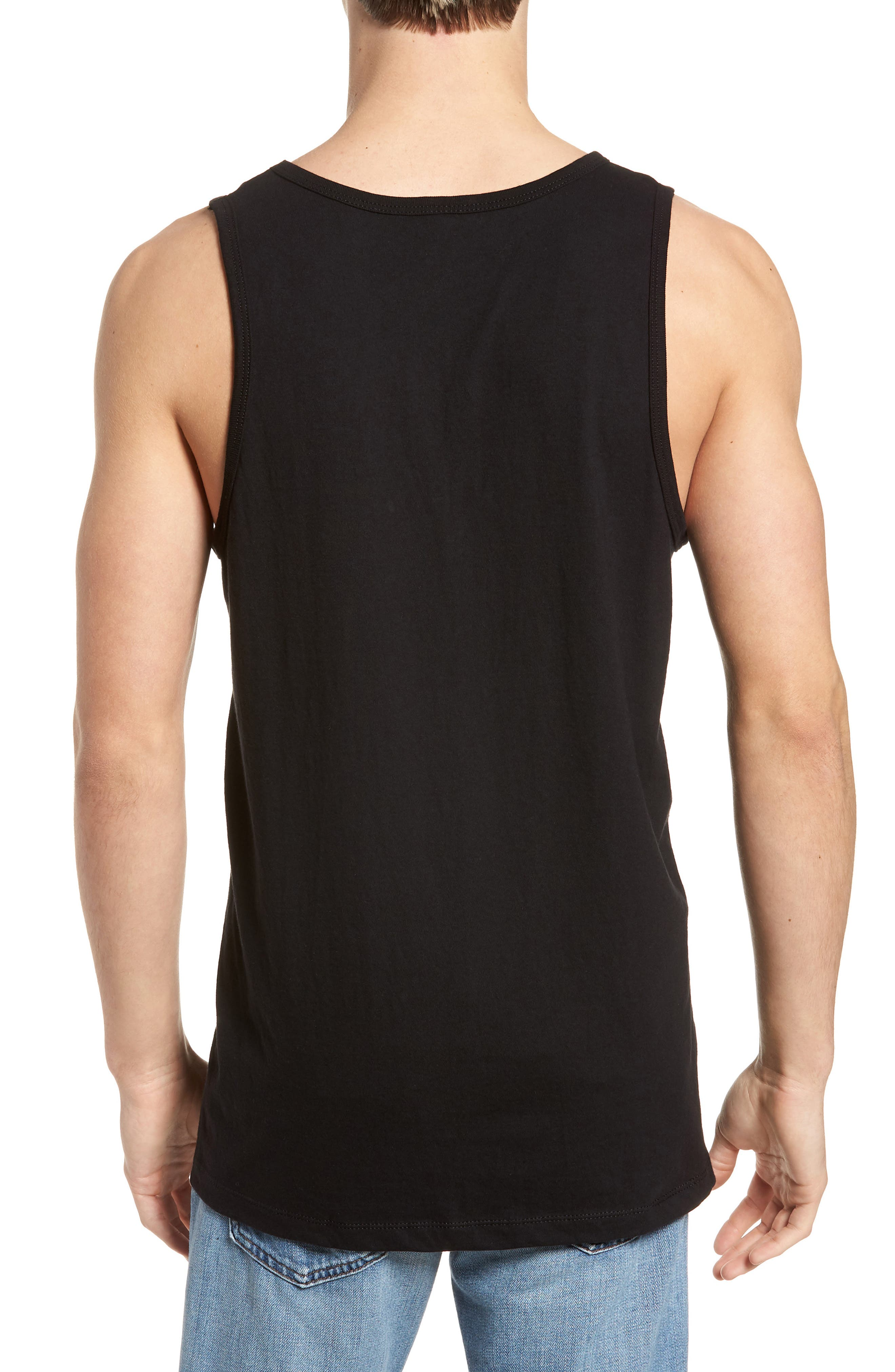 Decades Graphic Tank,                             Alternate thumbnail 2, color,                             Black