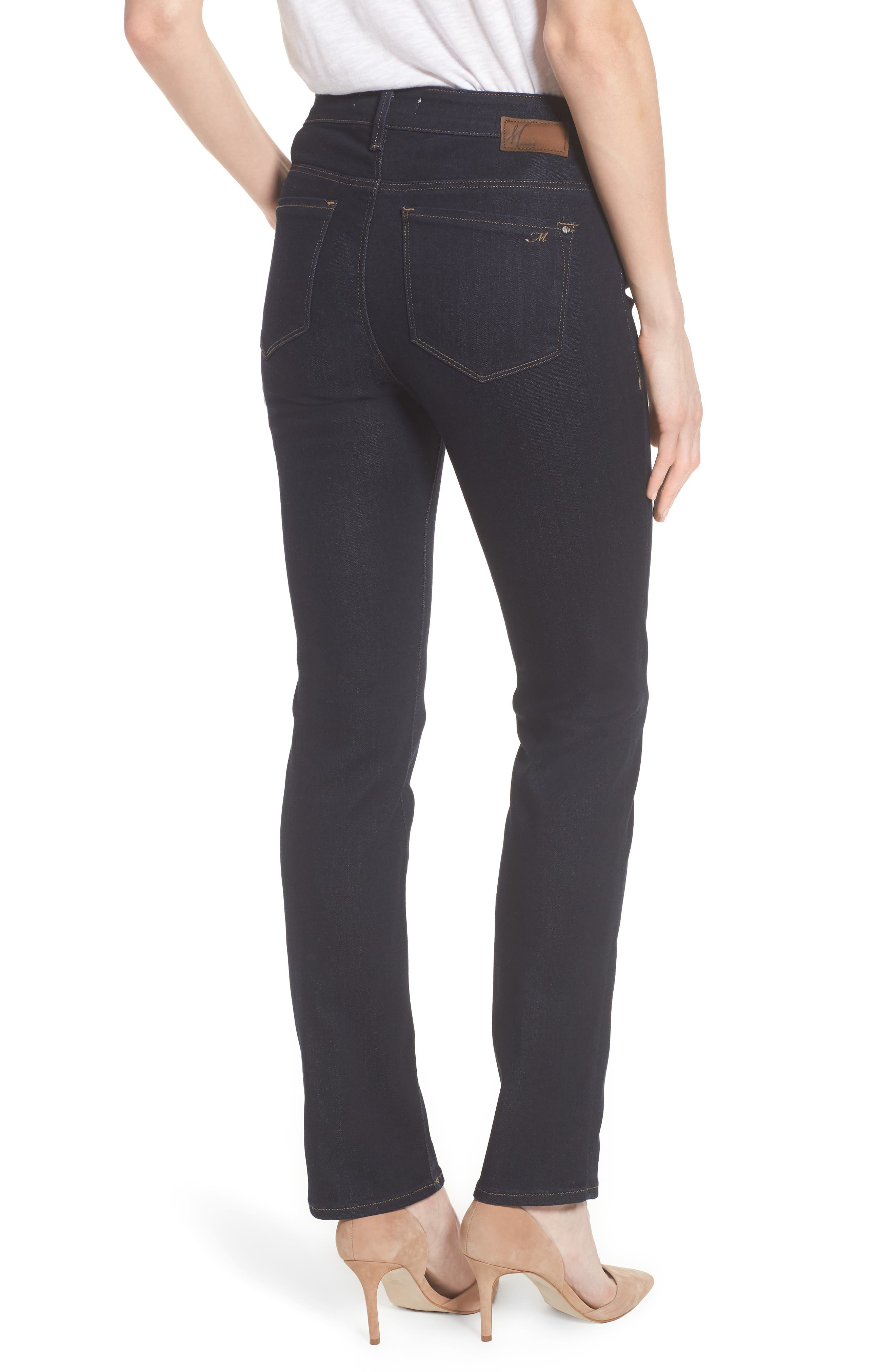 Kendra Supersoft Straight Leg Jeans,                             Alternate thumbnail 2, color,                             Rinse Super Soft