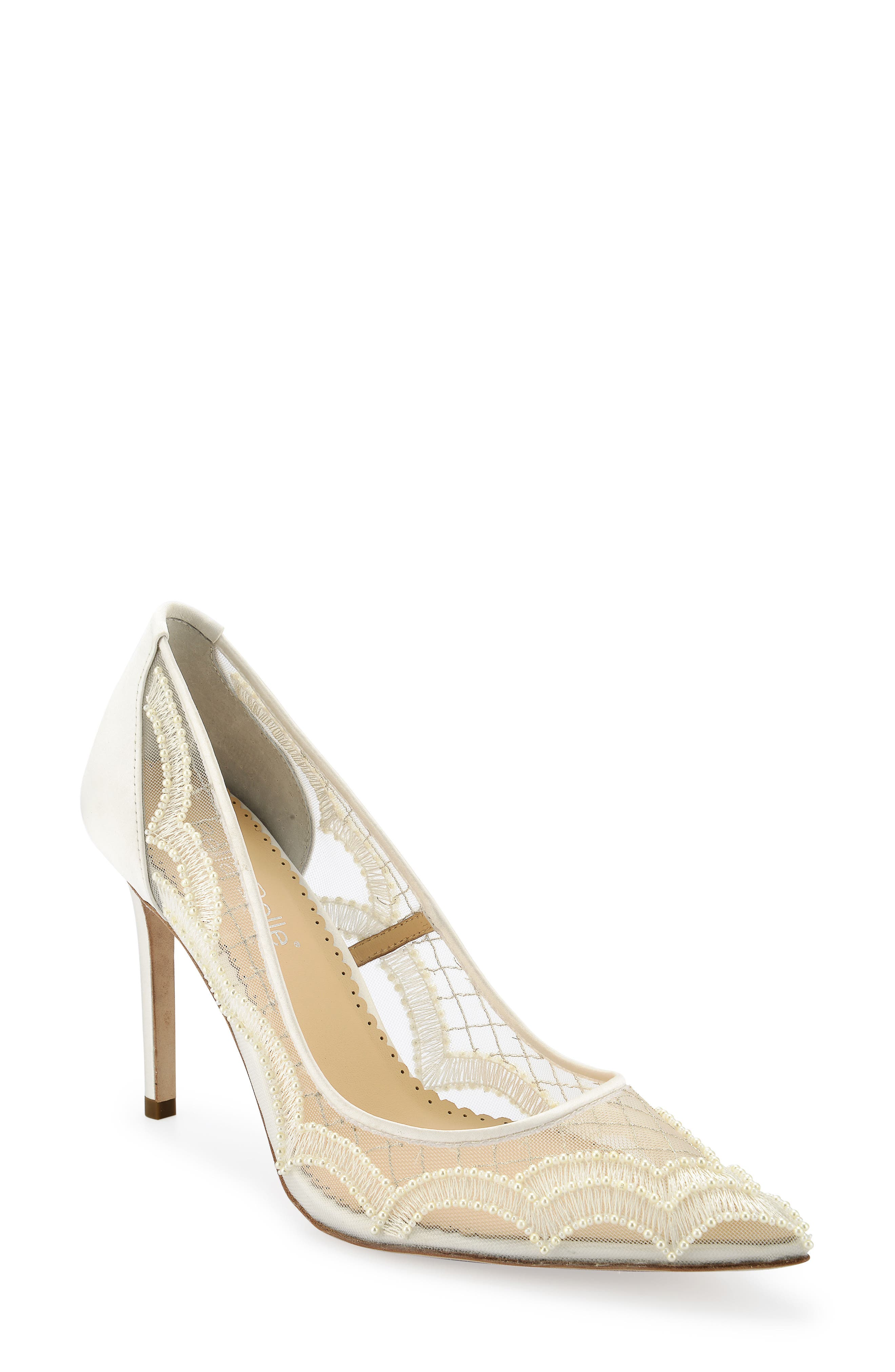Nadia Pump,                             Main thumbnail 1, color,                             Ivory Silk
