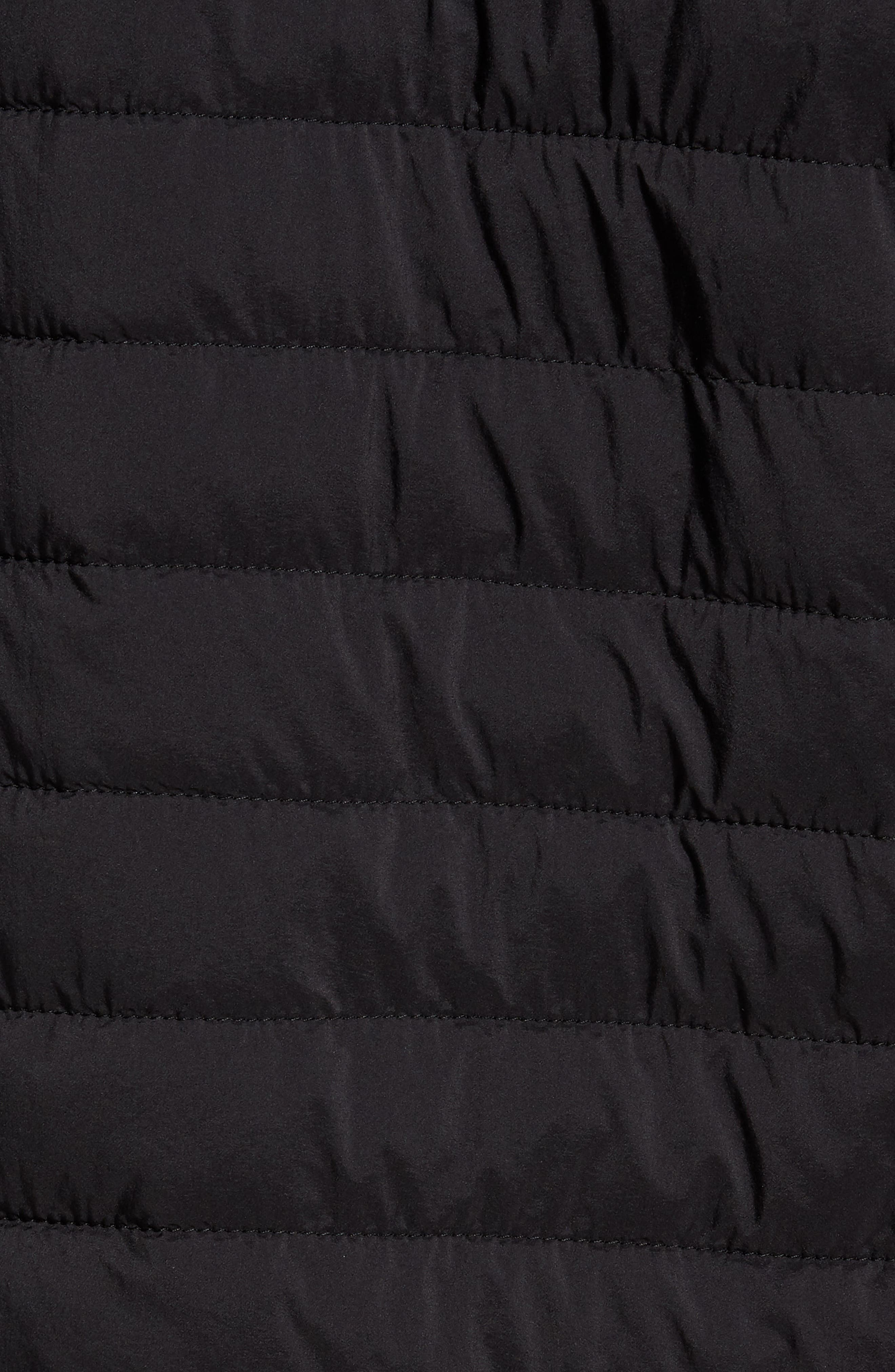 Tipped Quilted Jacket,                             Alternate thumbnail 5, color,                             Black