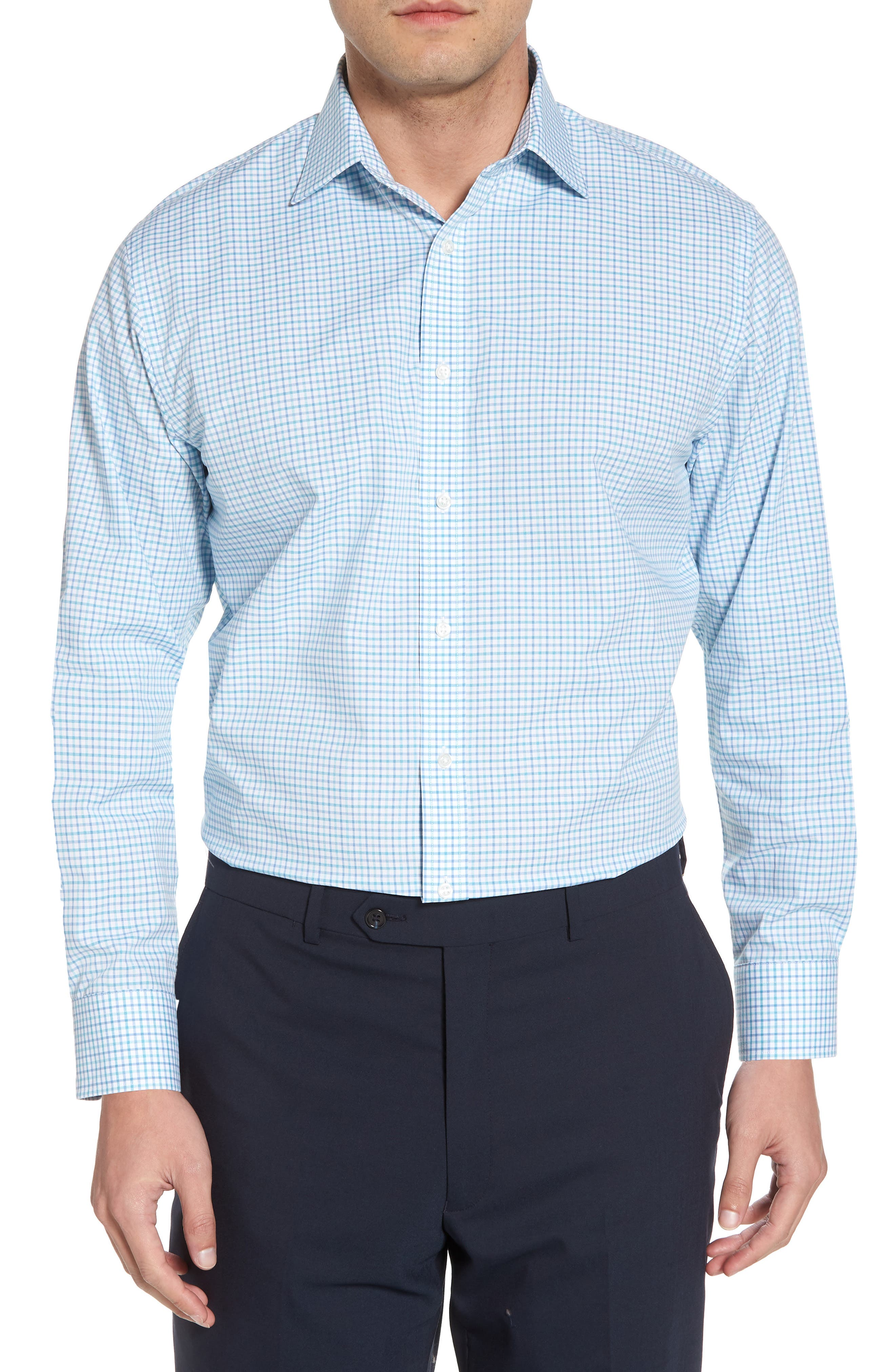 Alternate Image 1 Selected - Nordstrom Men's Shop Traditional Fit Check Dress Shirt