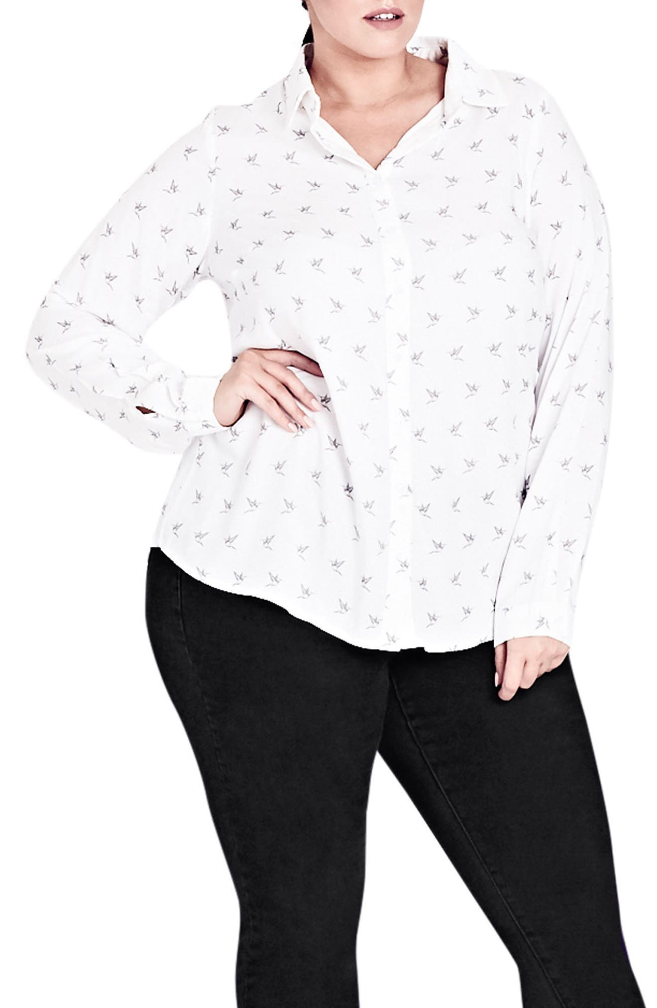 Lovely Lady Blouse,                         Main,                         color, Ivory