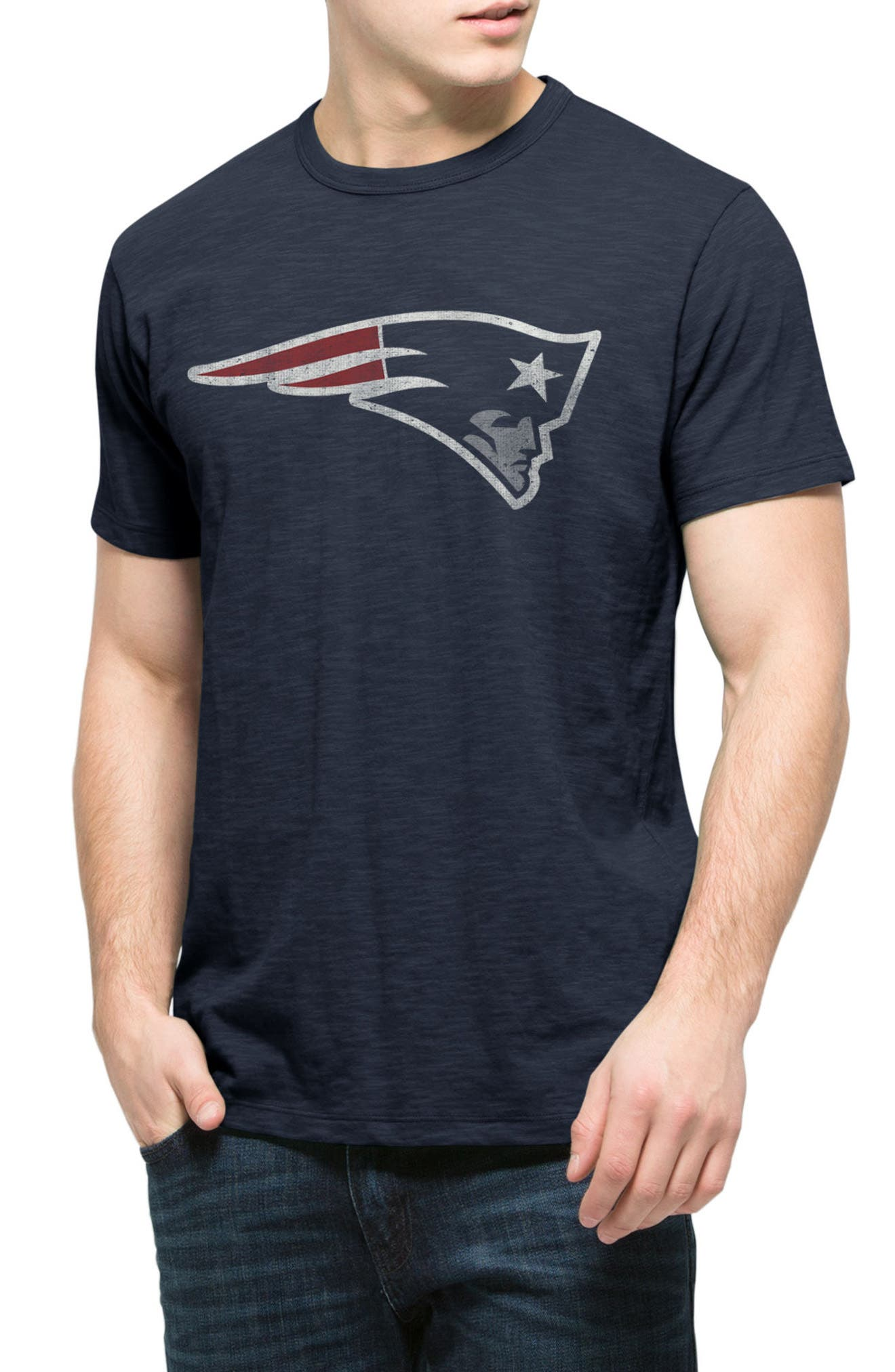 New England Patriots Scrum T-Shirt,                         Main,                         color, Midnight