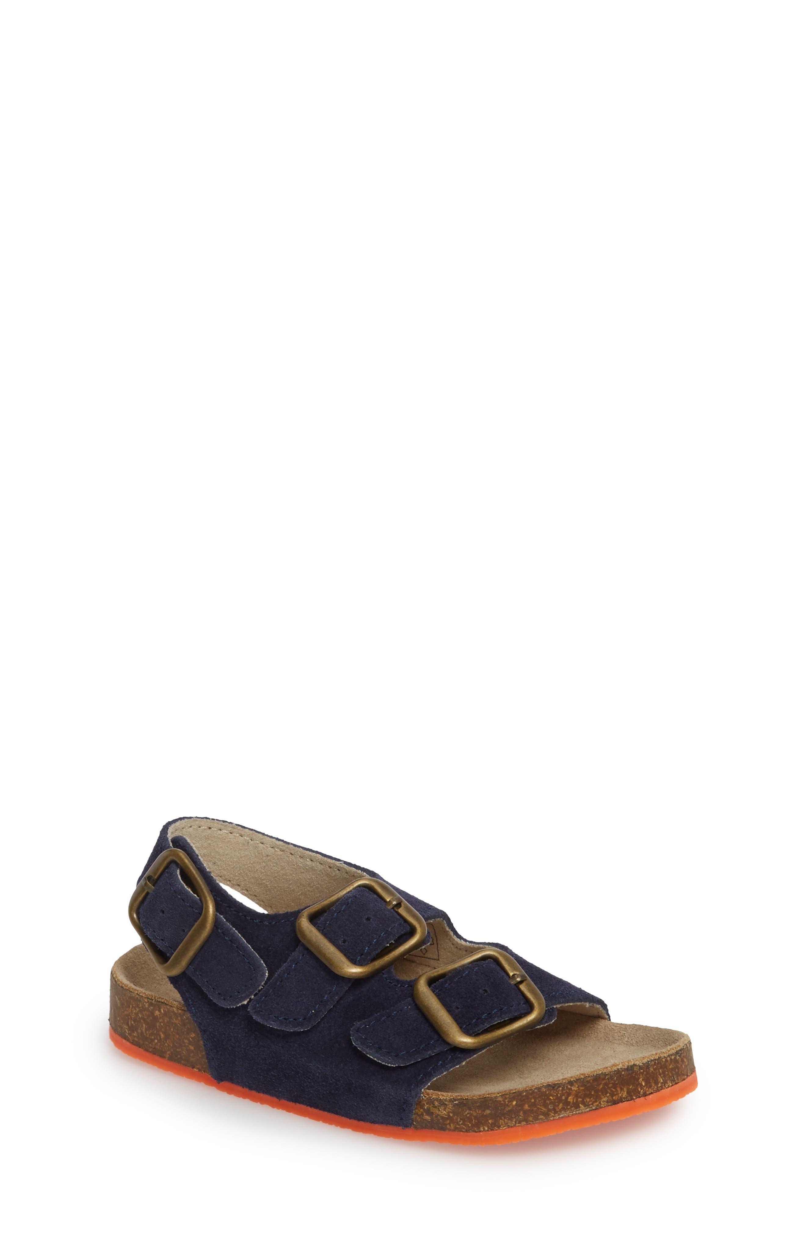 Sandal,                             Main thumbnail 1, color,                             School Navy