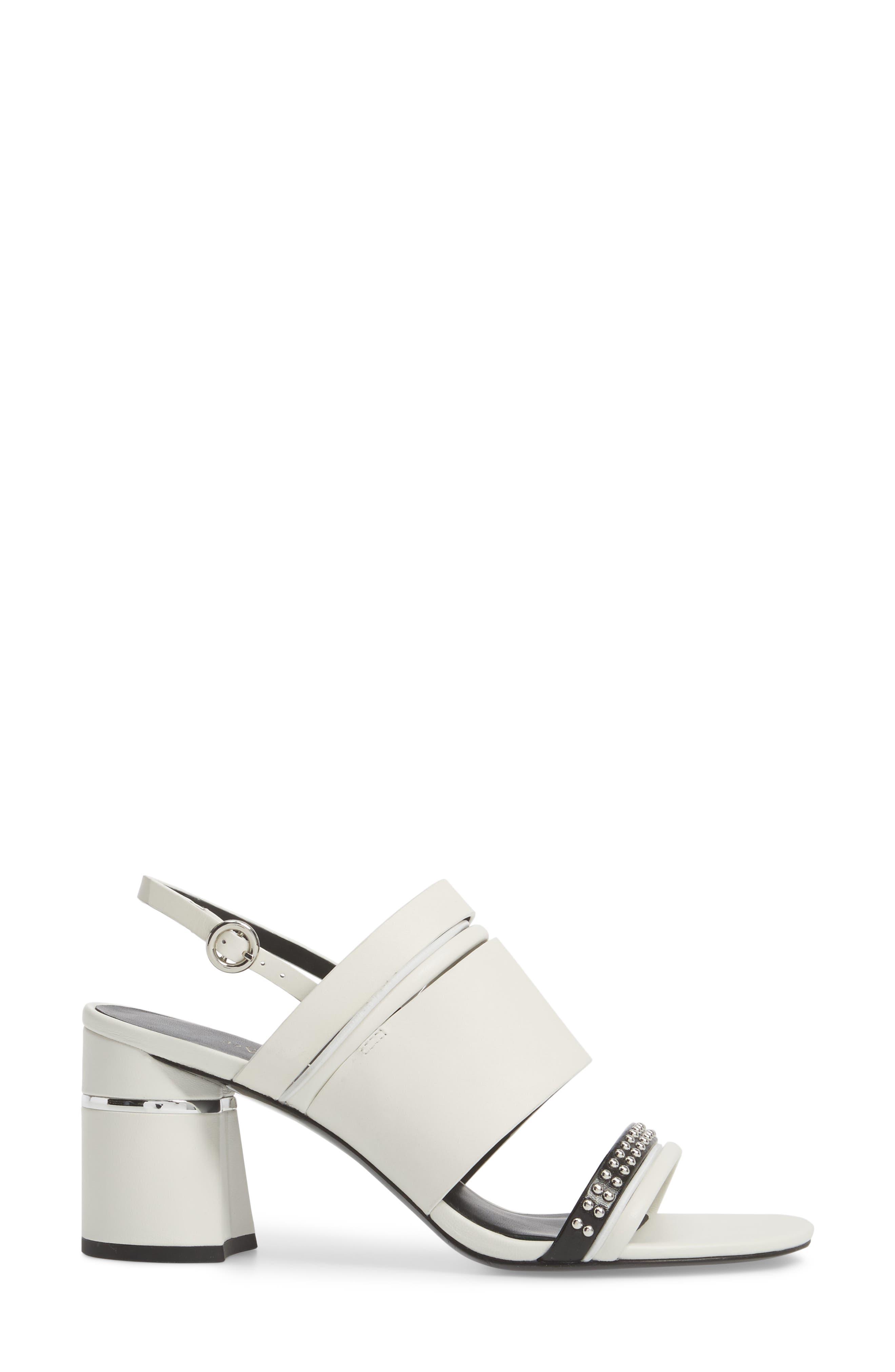 Slingback Sandal,                             Alternate thumbnail 3, color,                             White