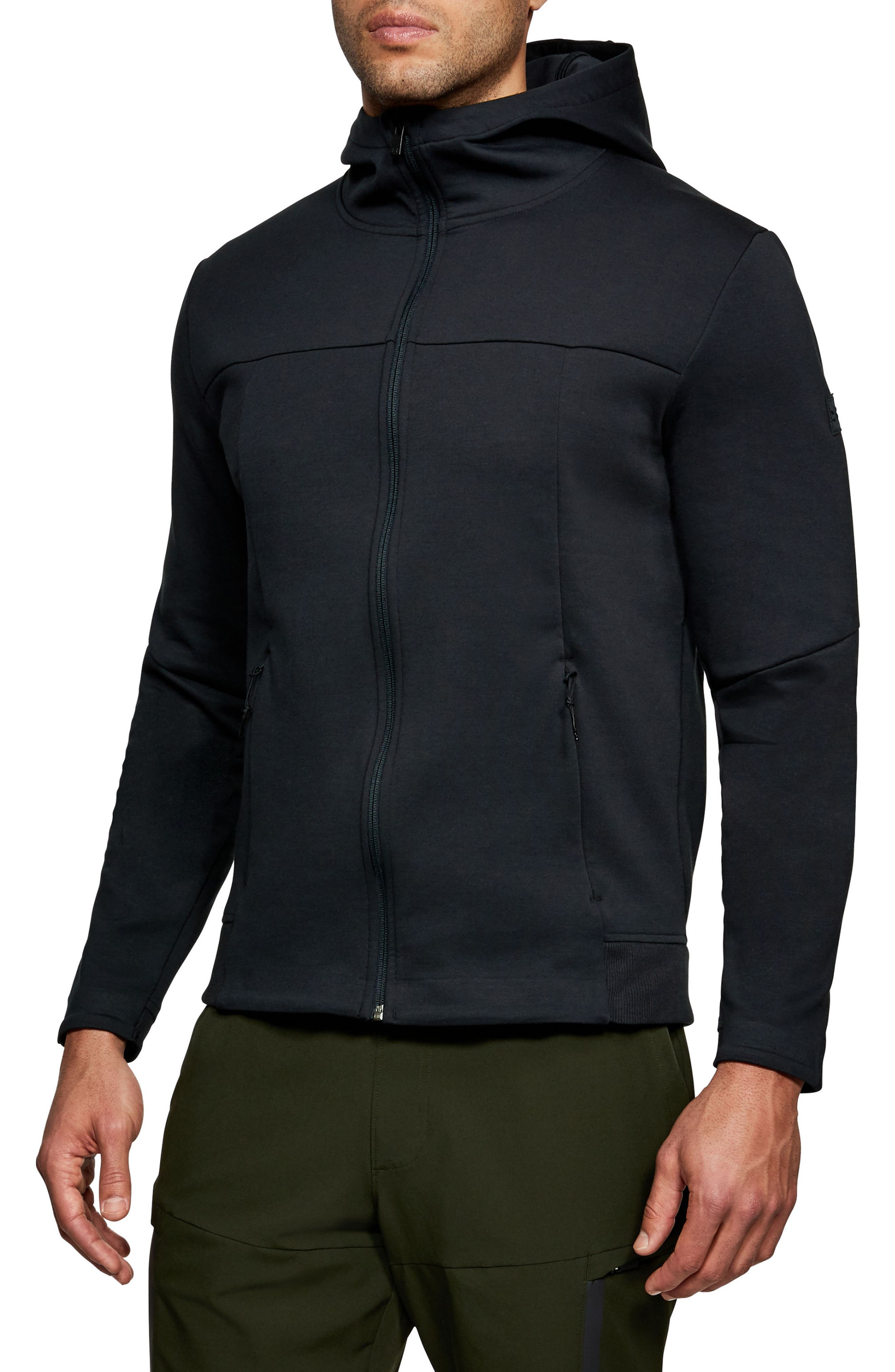 Sportstyle Elite Zip Hoodie,                         Main,                         color, Black/ Black