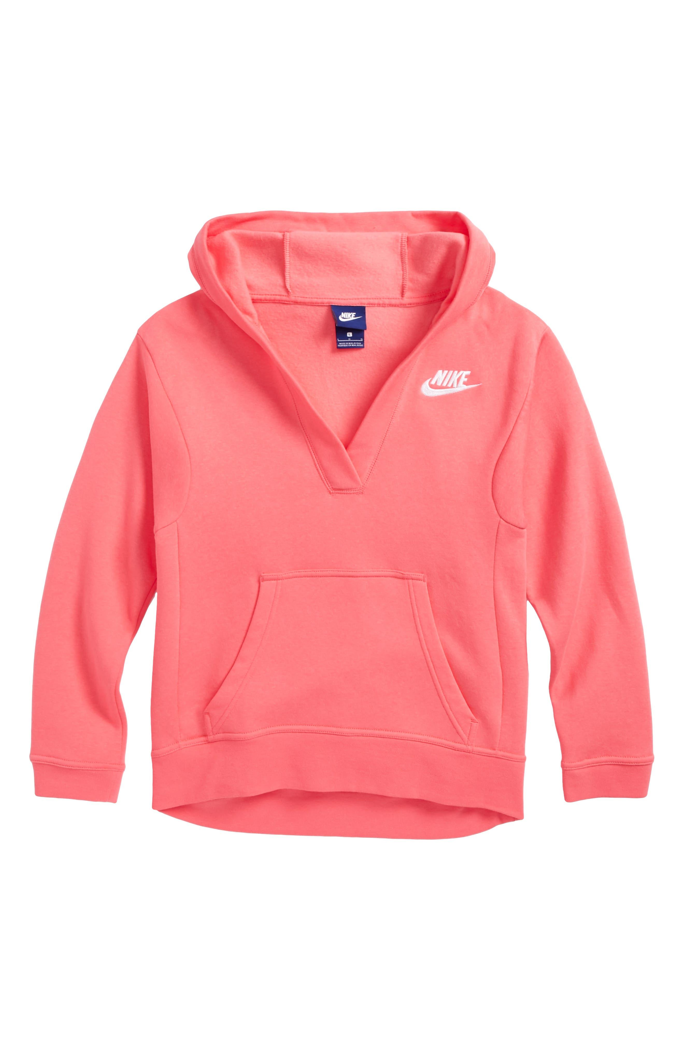 Nike V-Neck Pullover Hoodie (Big Girls)