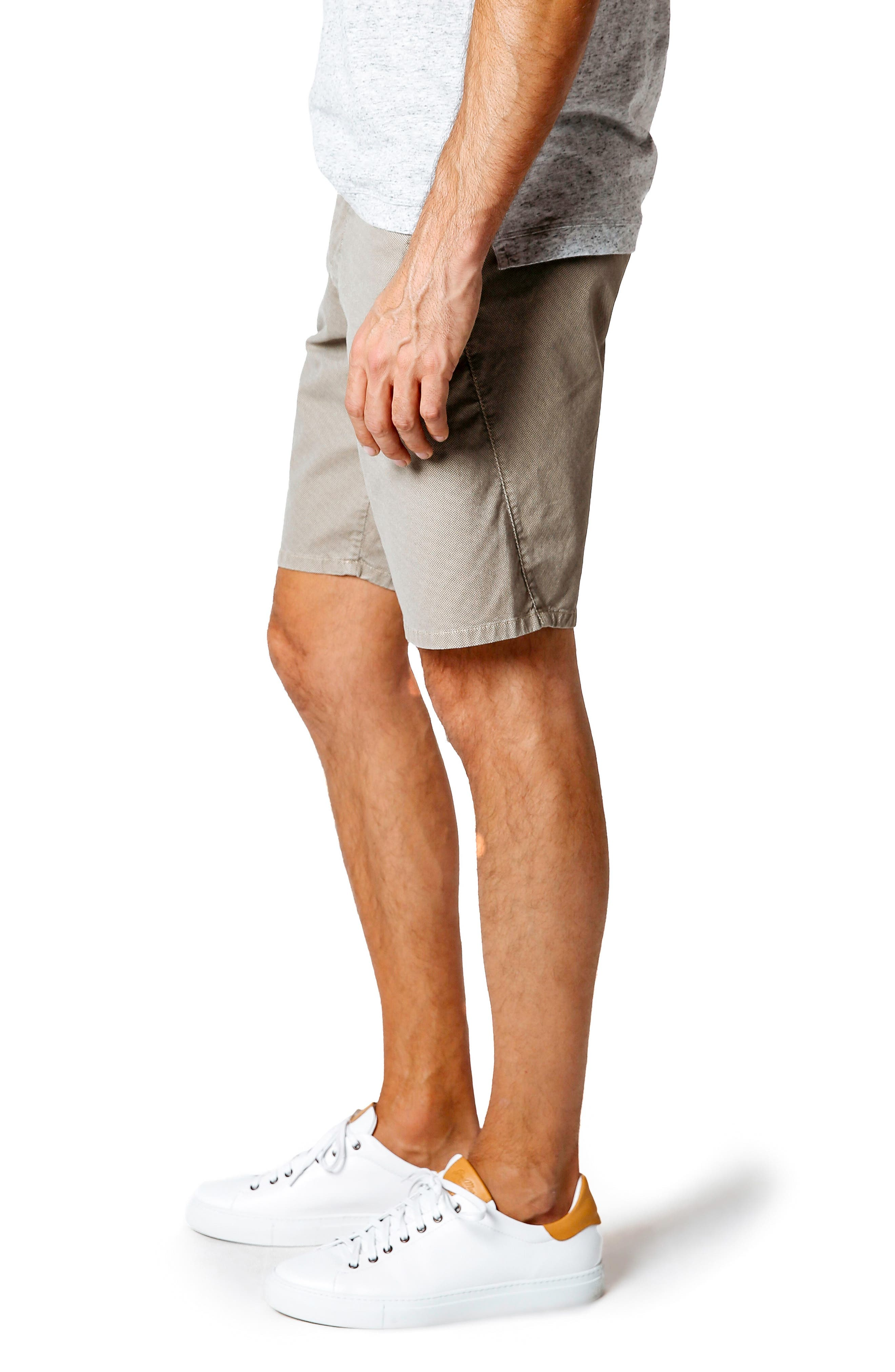 Wrap Microdot Stretch Chino Shorts,                             Alternate thumbnail 3, color,                             Magnet