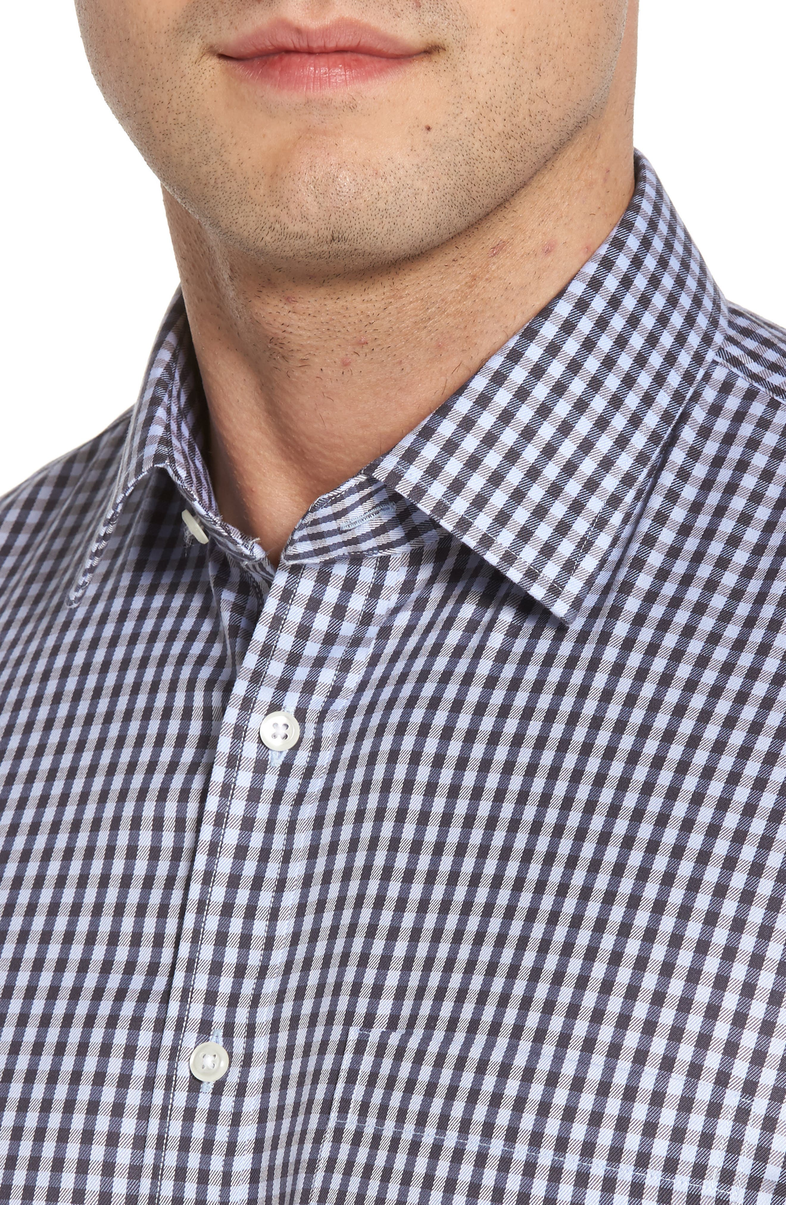 Smartcare<sup>™</sup> Traditional Fit Check Dress Shirt,                             Alternate thumbnail 2, color,                             Grey Stonehenge