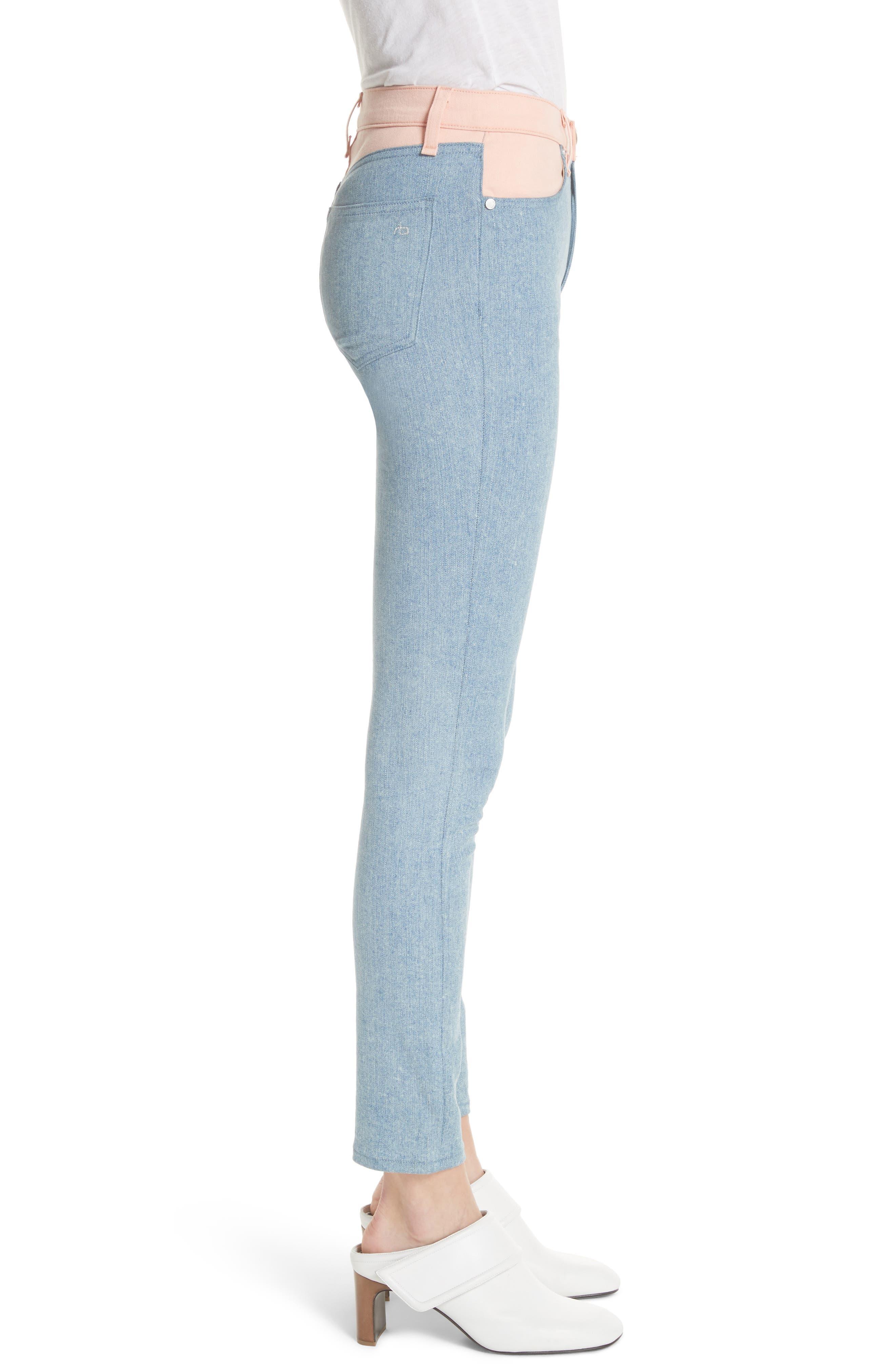 Phila Skinny Jeans,                             Alternate thumbnail 3, color,                             Nelly/ Prairie