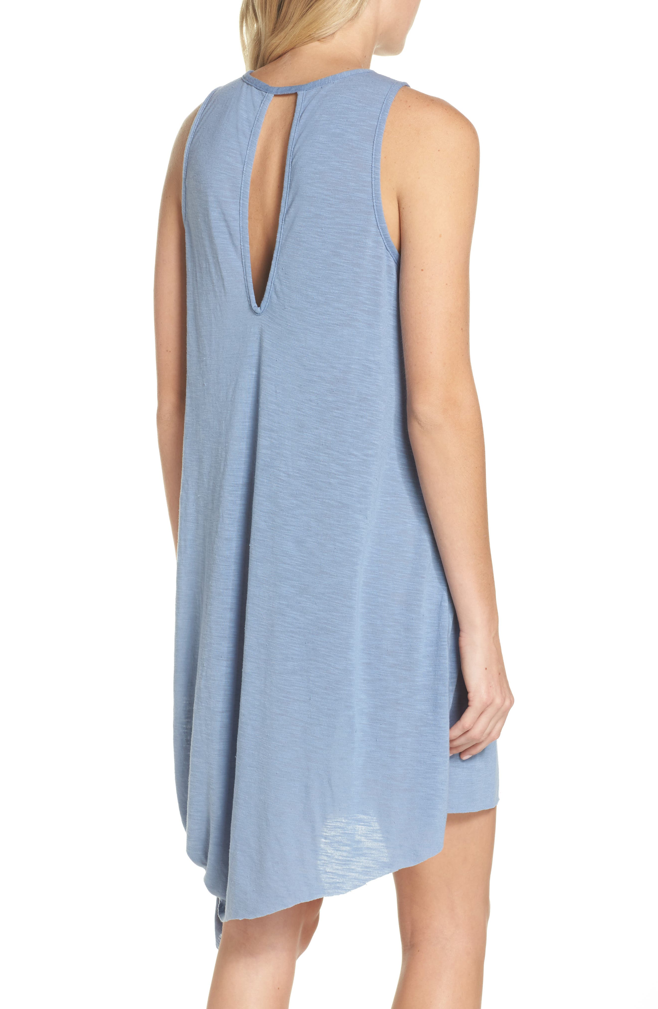 Breezy Basics Cover-Up Dress,                             Alternate thumbnail 2, color,                             Steel