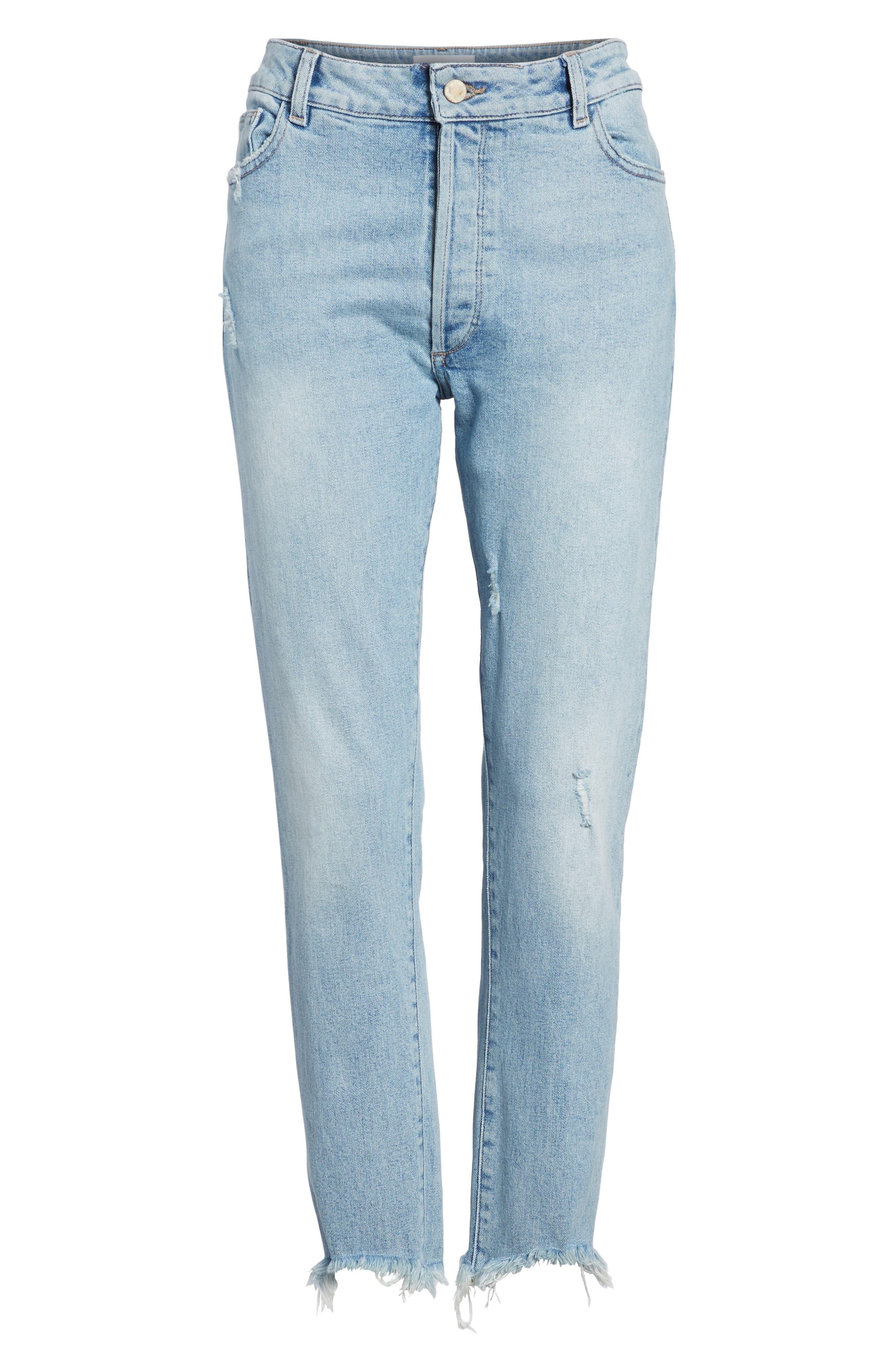 Bella Vintage Crop Slim Jeans,                             Alternate thumbnail 7, color,                             Super Bleach