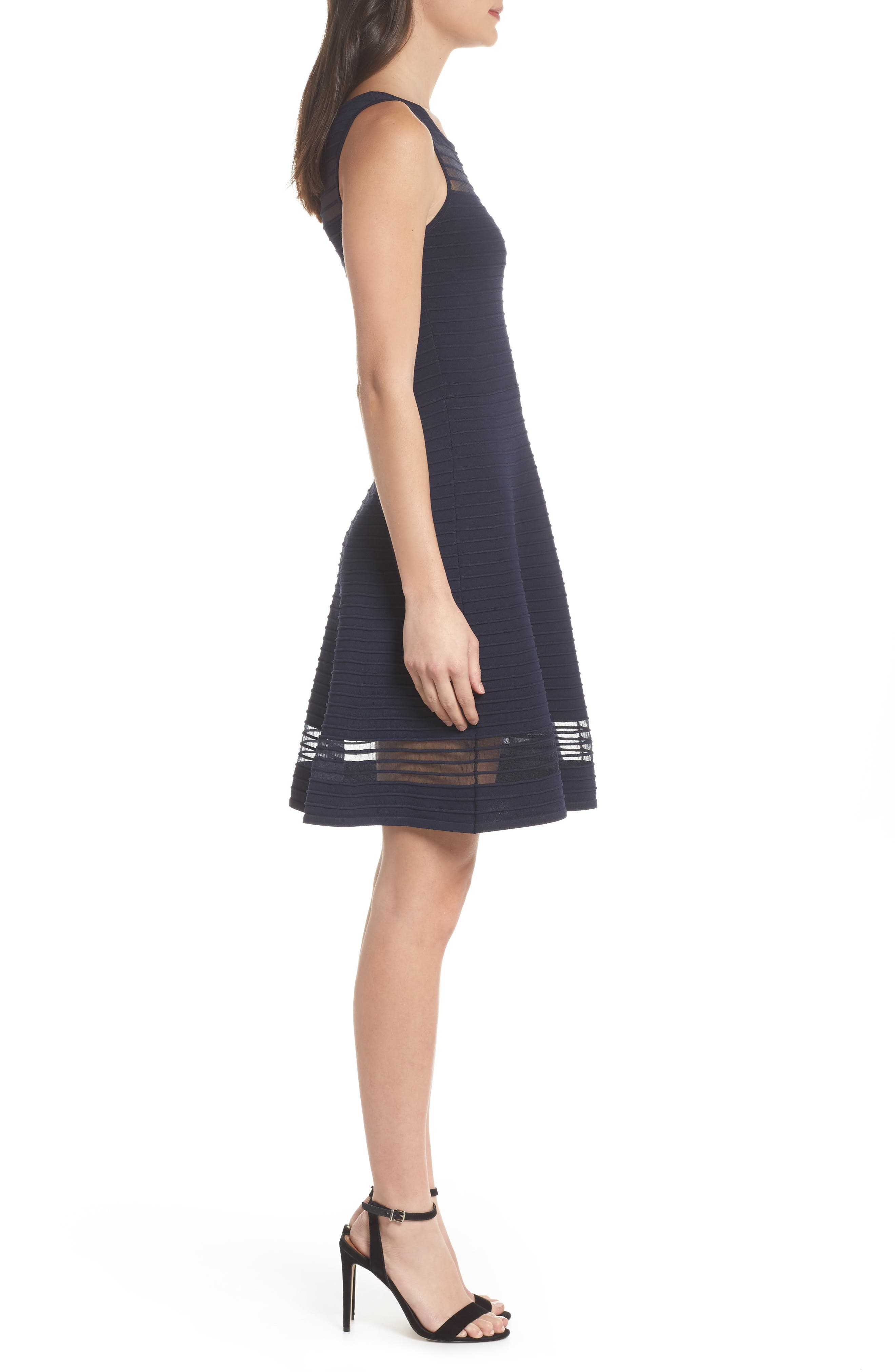 Tobey Fit & Flare Sweater Dress,                             Alternate thumbnail 2, color,                             Nocturnal