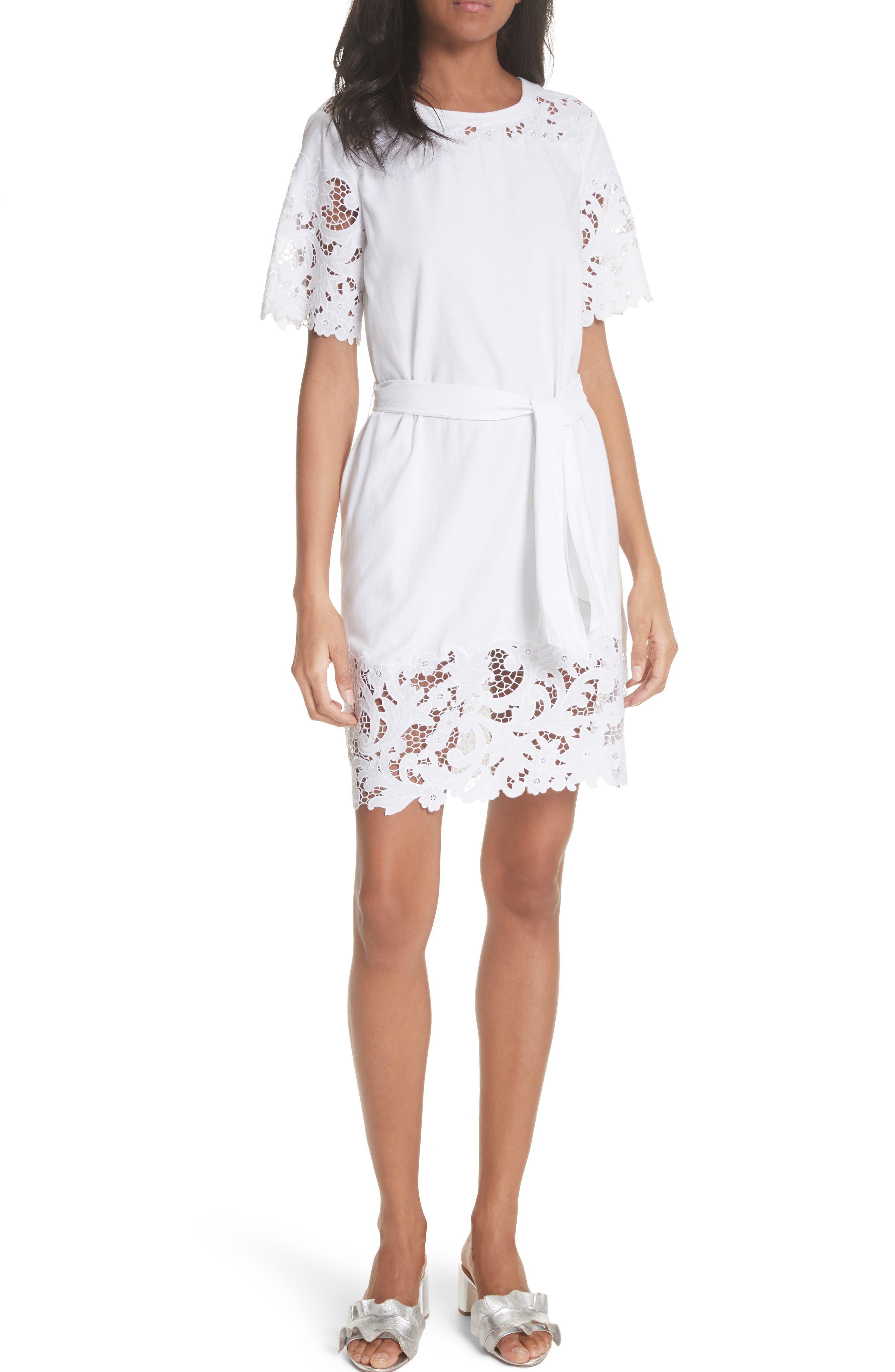 Rebecca taylor beaded cotton maxi dress