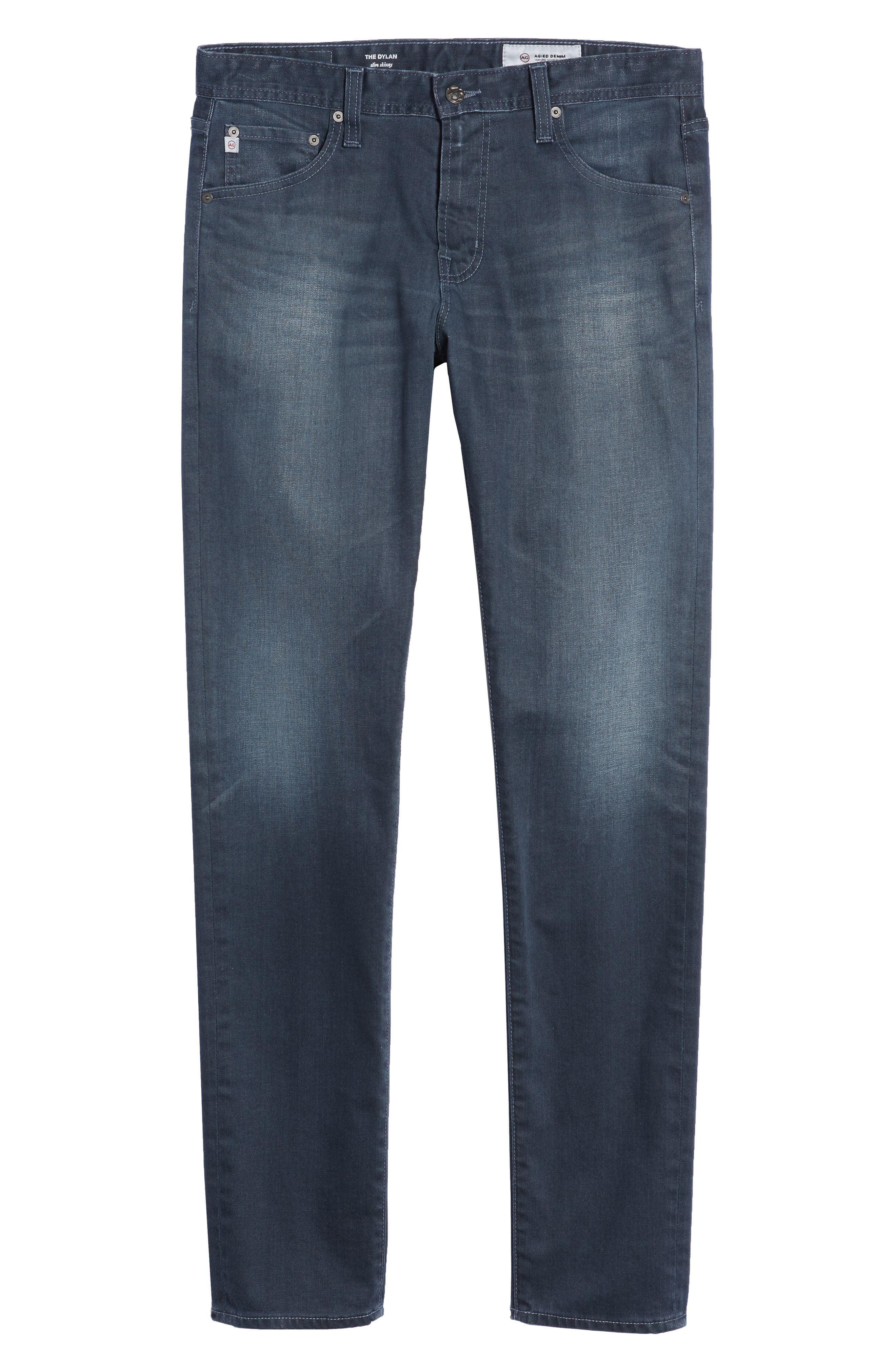 Dylan Skinny Fit Jeans,                             Alternate thumbnail 6, color,                             9 Years Tidepool