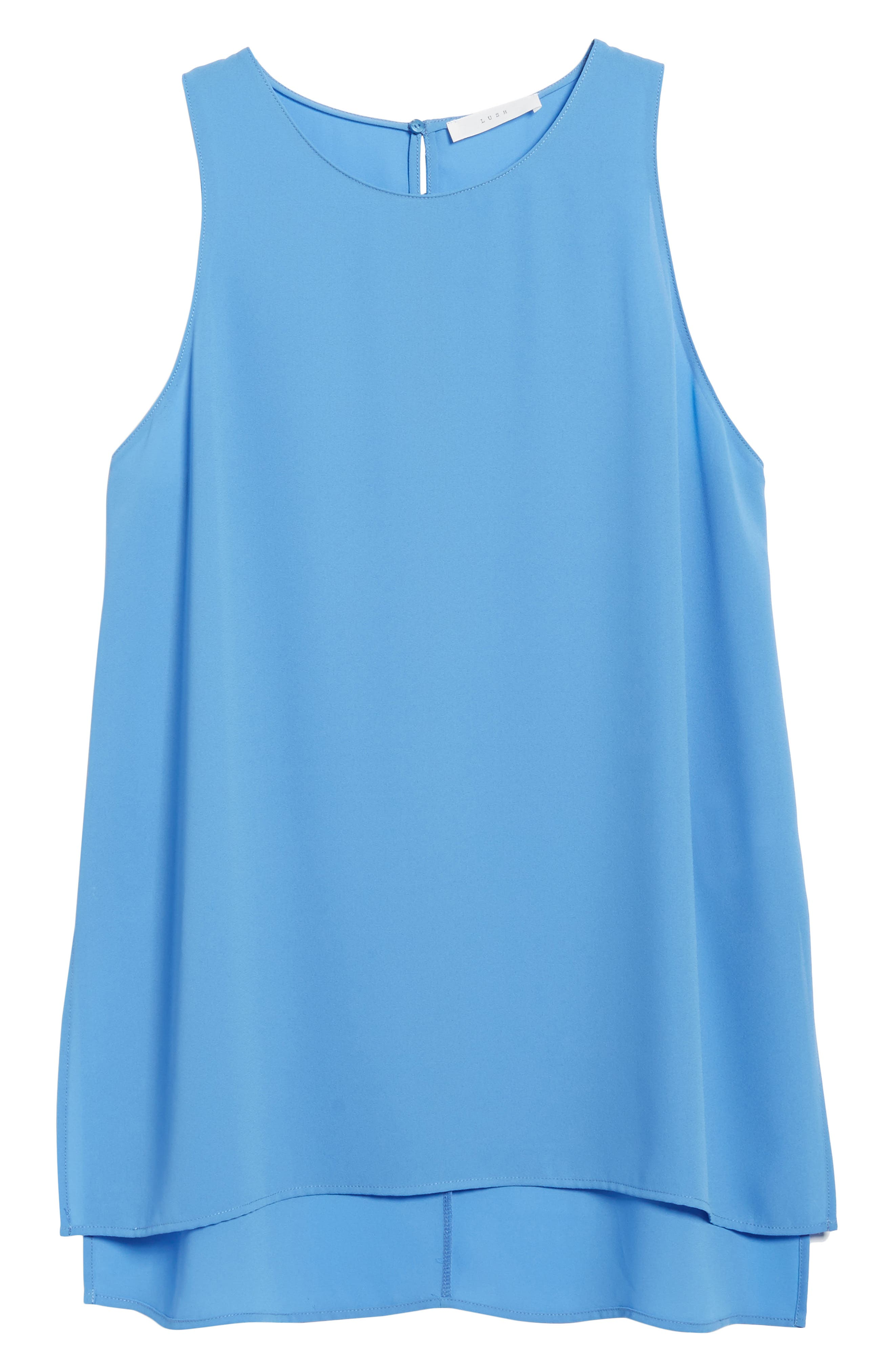 Side Slit Tank,                             Alternate thumbnail 6, color,                             Sky Blue
