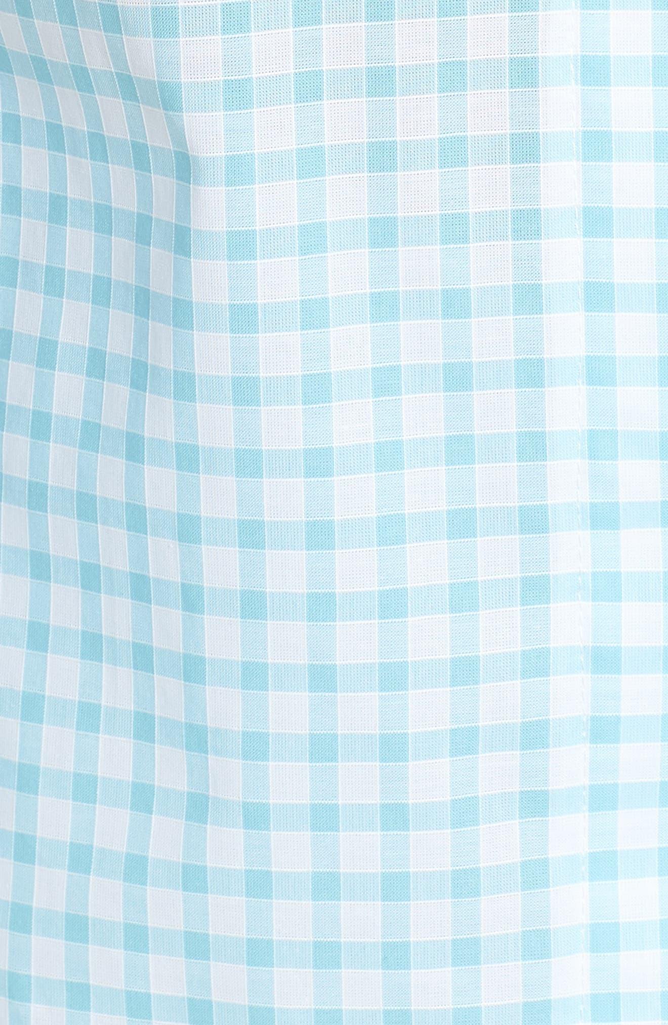 Gingham Pajamas,                             Alternate thumbnail 6, color,                             Aqua Gingham