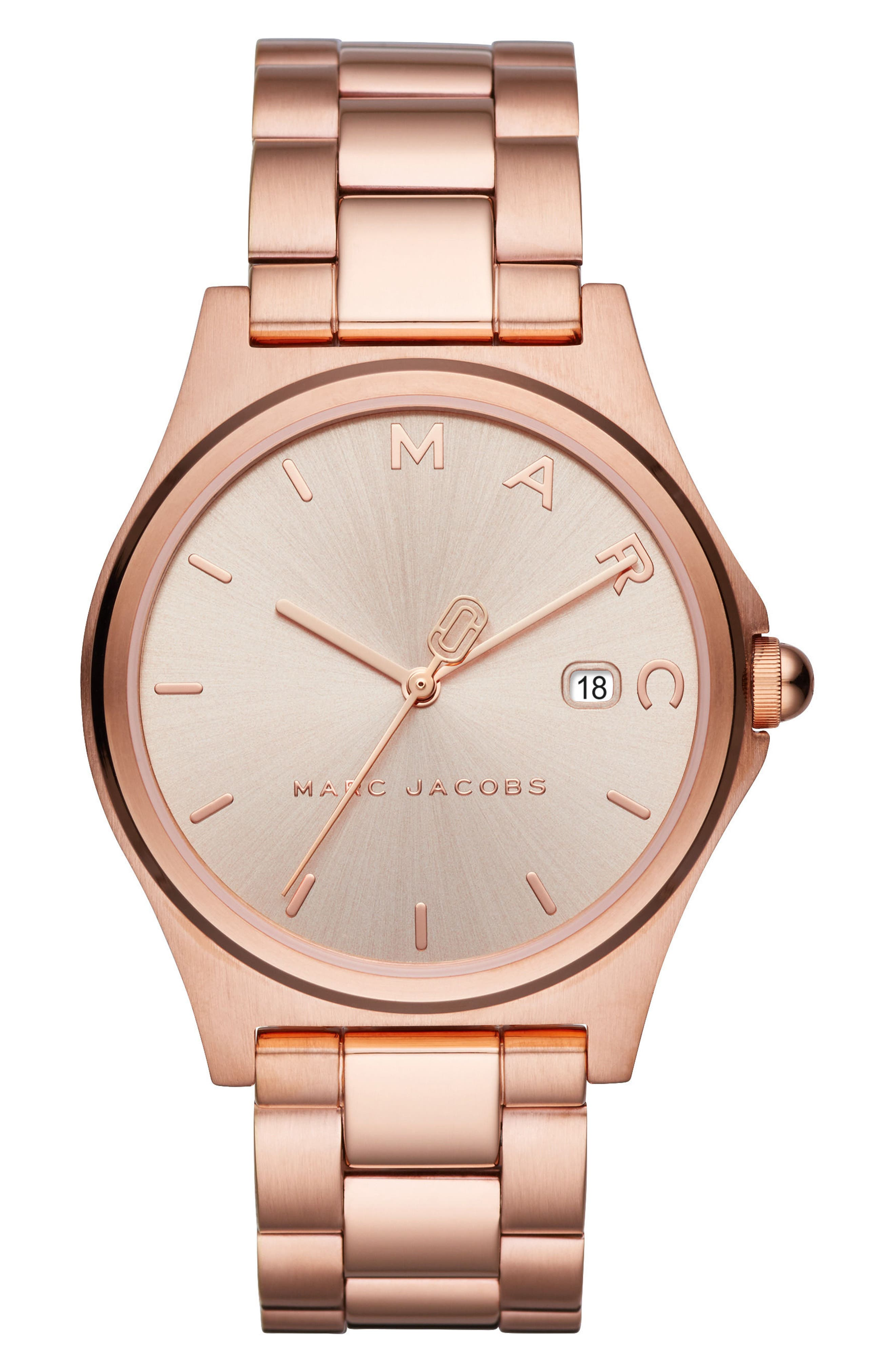 Henry Bracelet Watch, 39mm,                             Main thumbnail 1, color,                             Rose Gold Tone