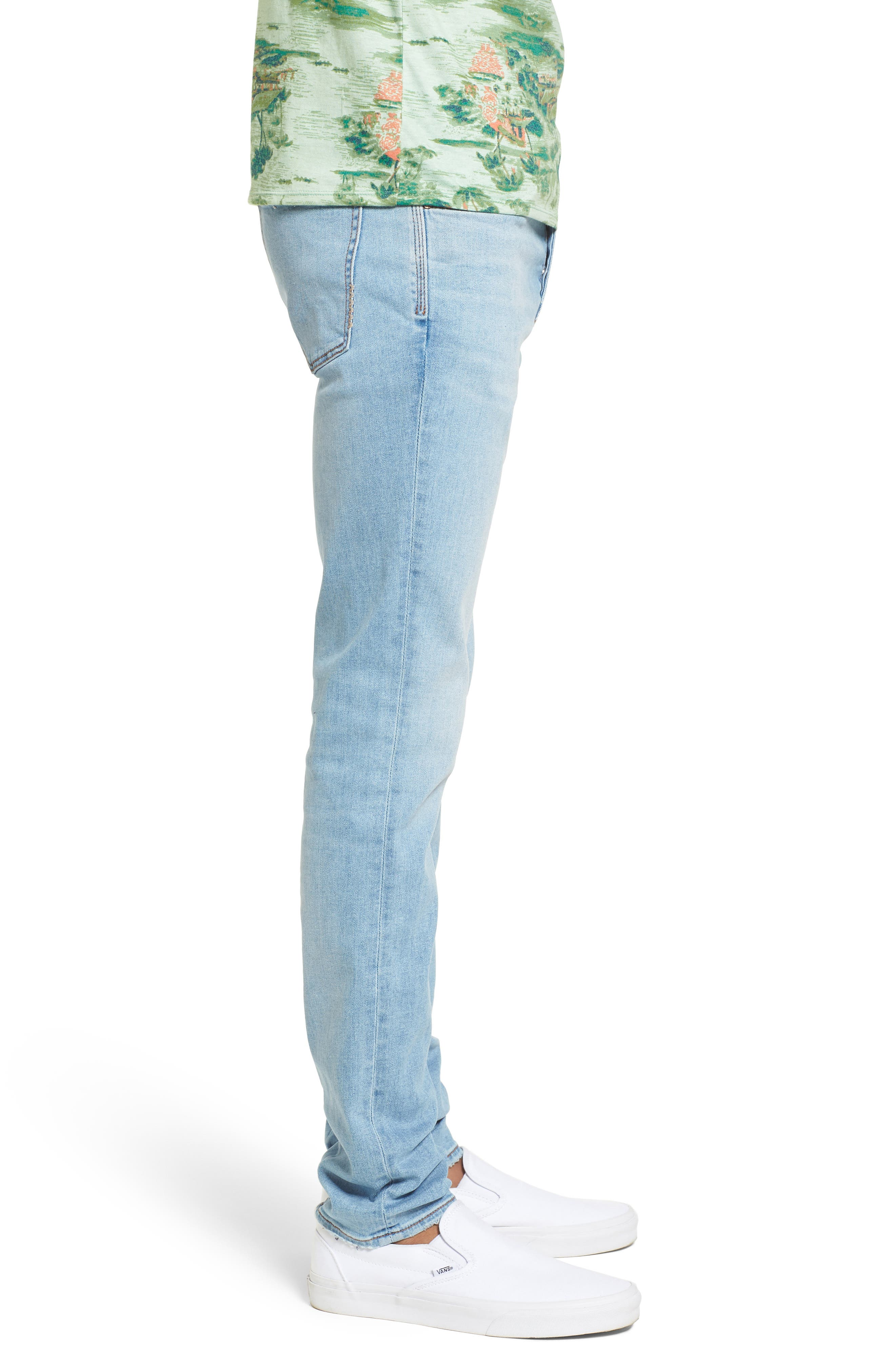 Iggy Skinny Fit Jeans,                             Alternate thumbnail 3, color,                             Surf Bleach