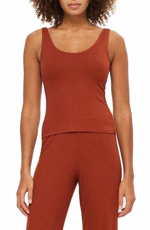 Topshop Ribbed Pajama Camisole