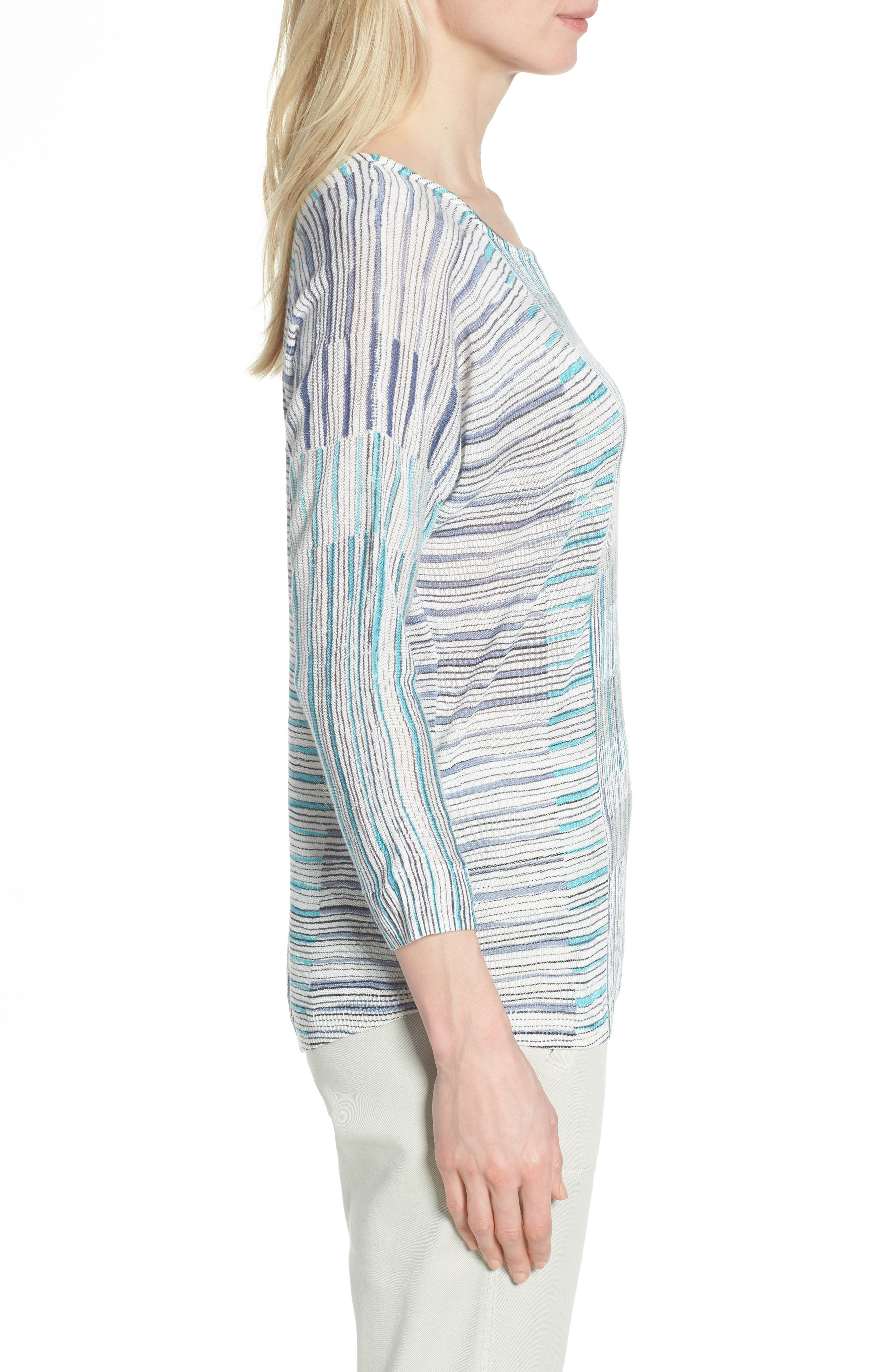 Sea Wall Stripe Top,                             Alternate thumbnail 3, color,                             Multi