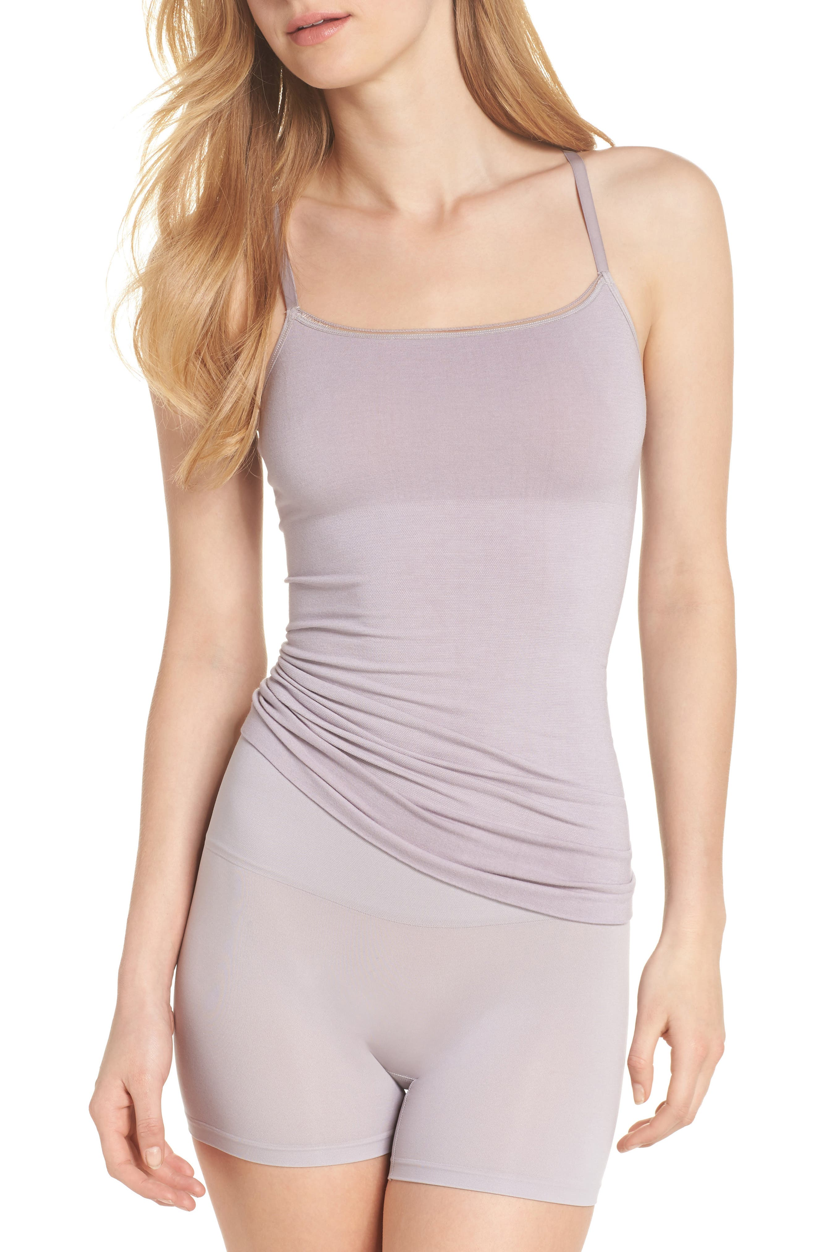 Seamlessly Shaped Convertible Camisole,                             Alternate thumbnail 5, color,                             Gull Gray