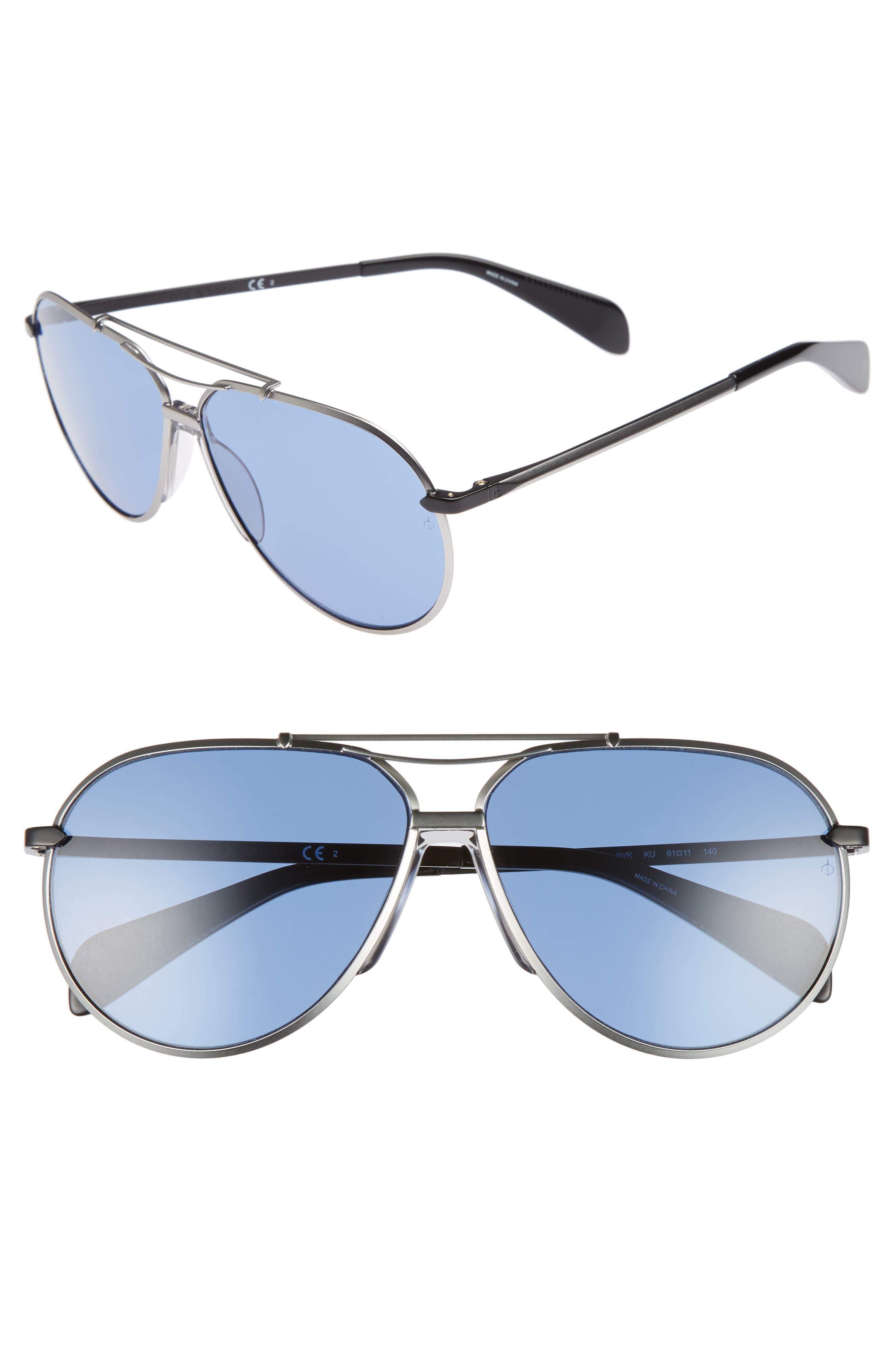 Alternate Image 1 Selected - rag & bone 61mm Aviator Sunglasses