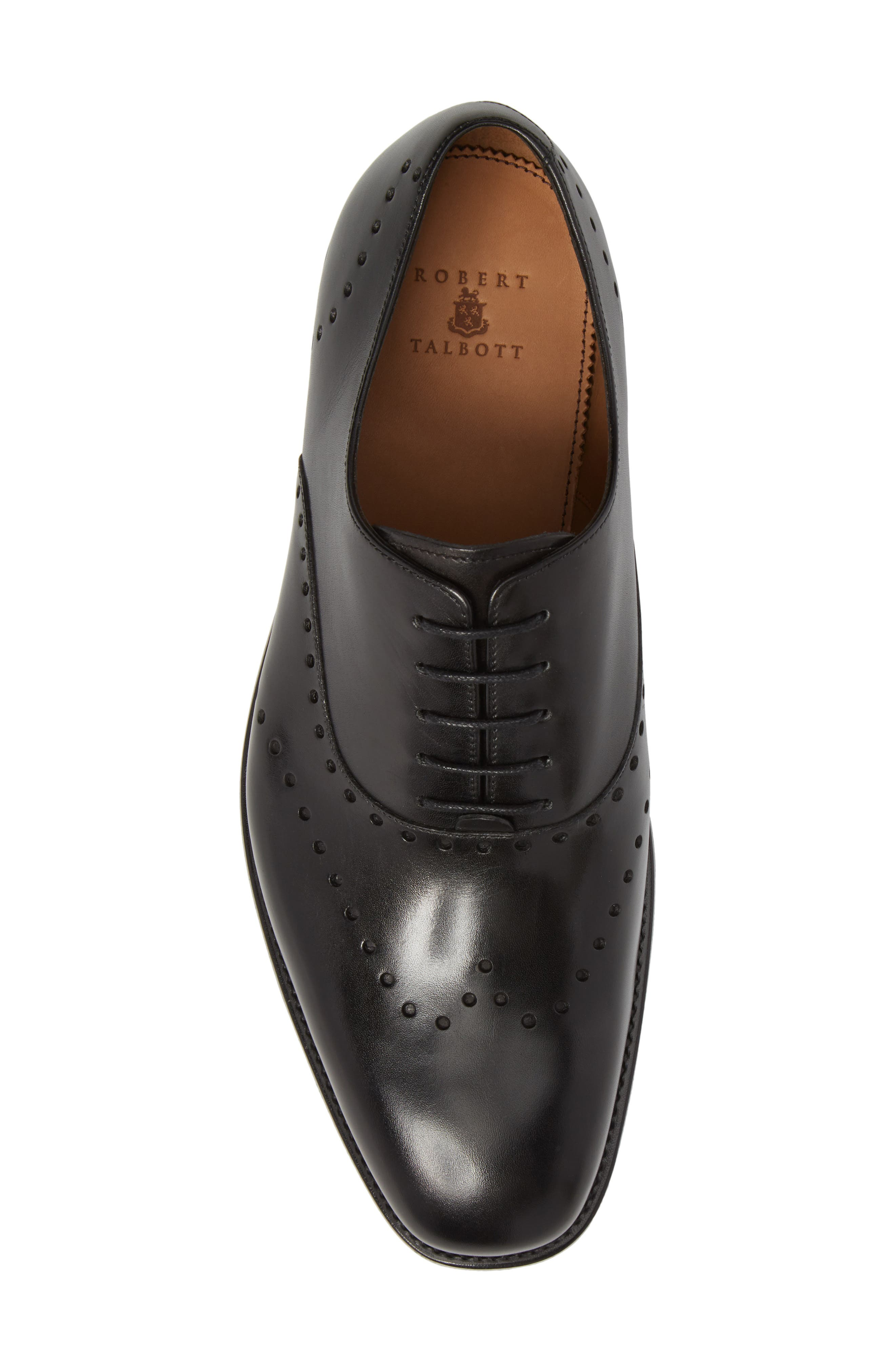 Belvedere Perforated Wingtip Oxford,                             Alternate thumbnail 5, color,                             Black