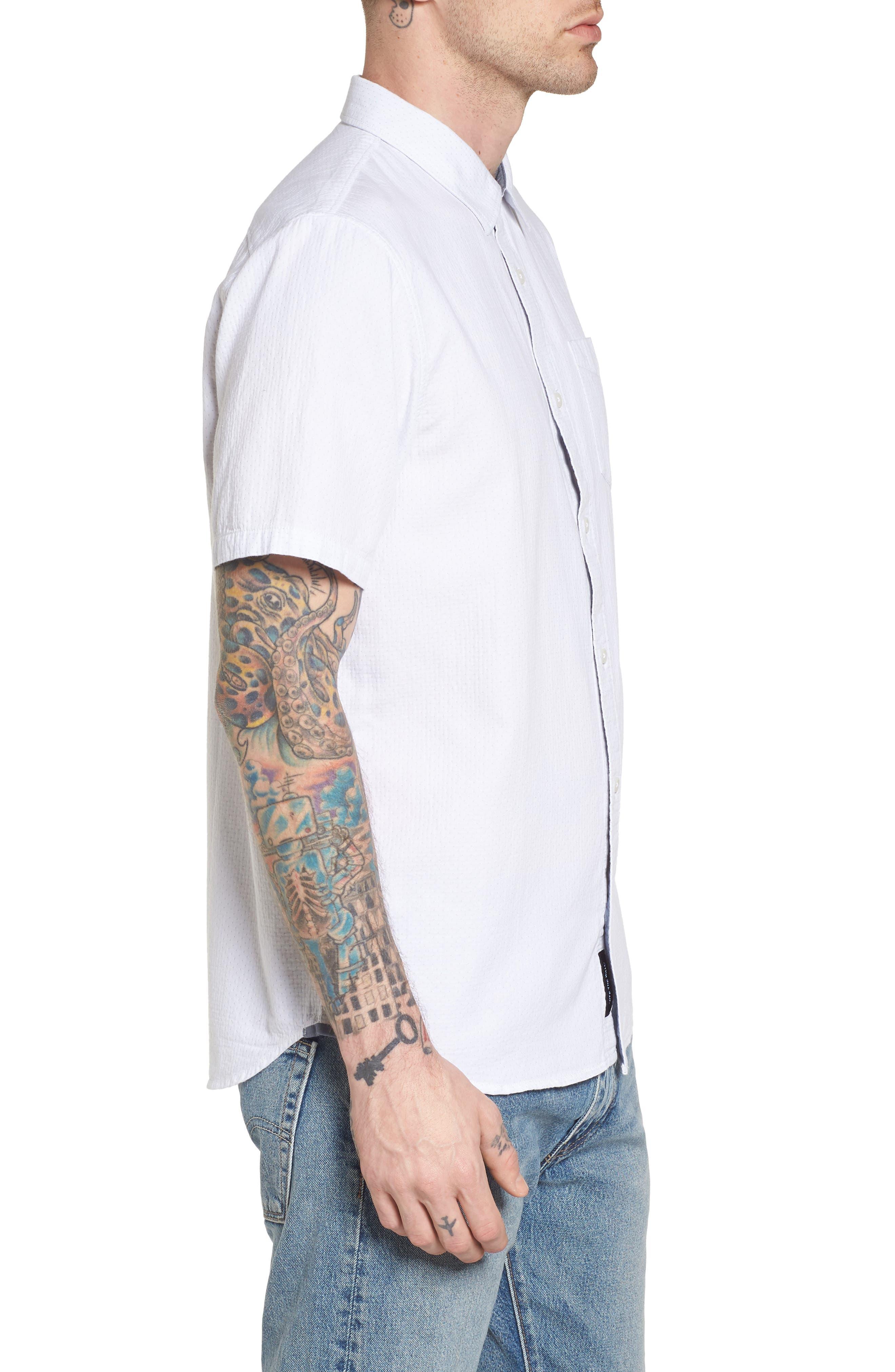 Fairdale Woven Shirt,                             Alternate thumbnail 4, color,                             White