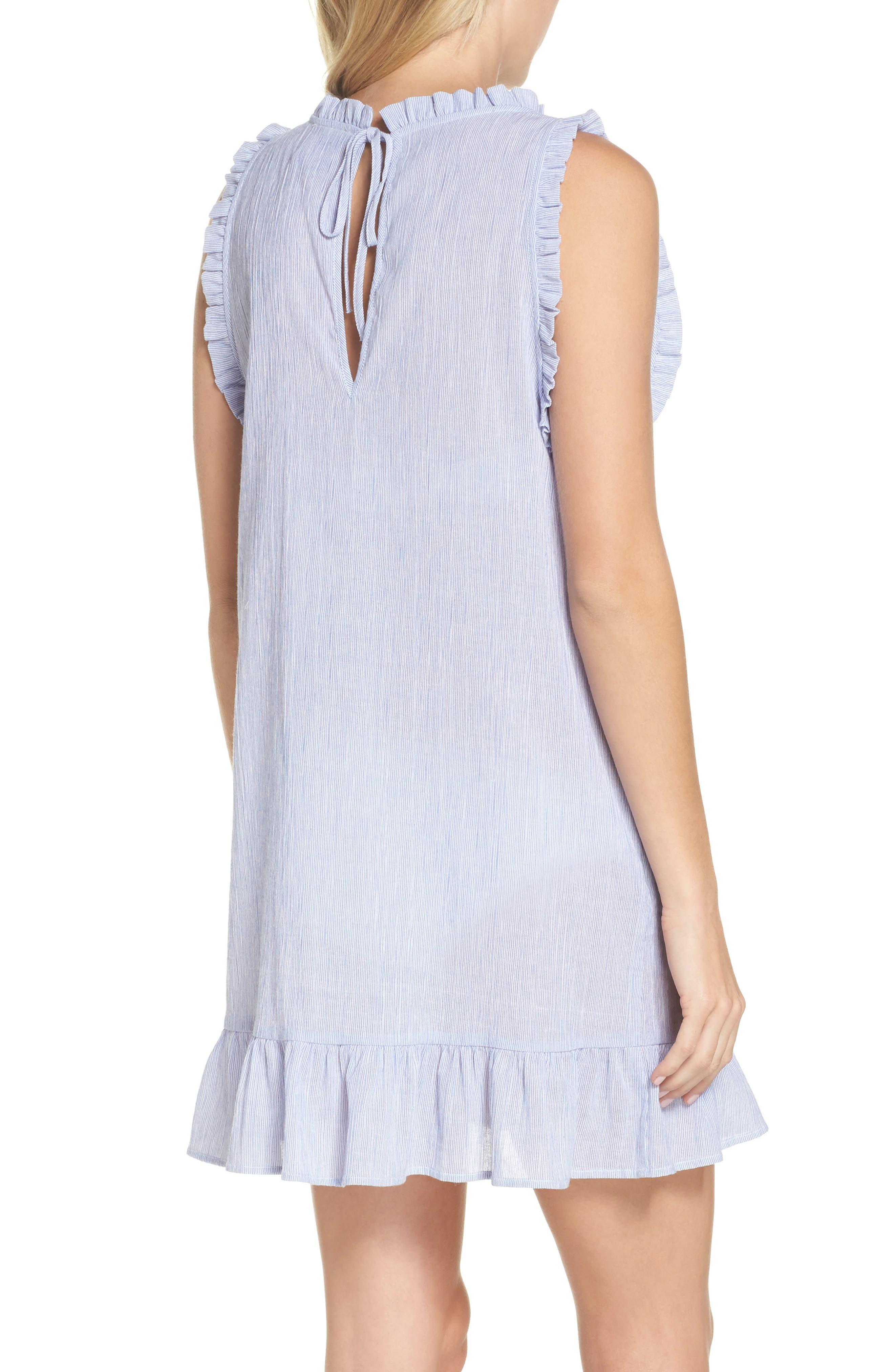 Heidi Cover-Up Dress,                             Alternate thumbnail 2, color,                             Blue/ White
